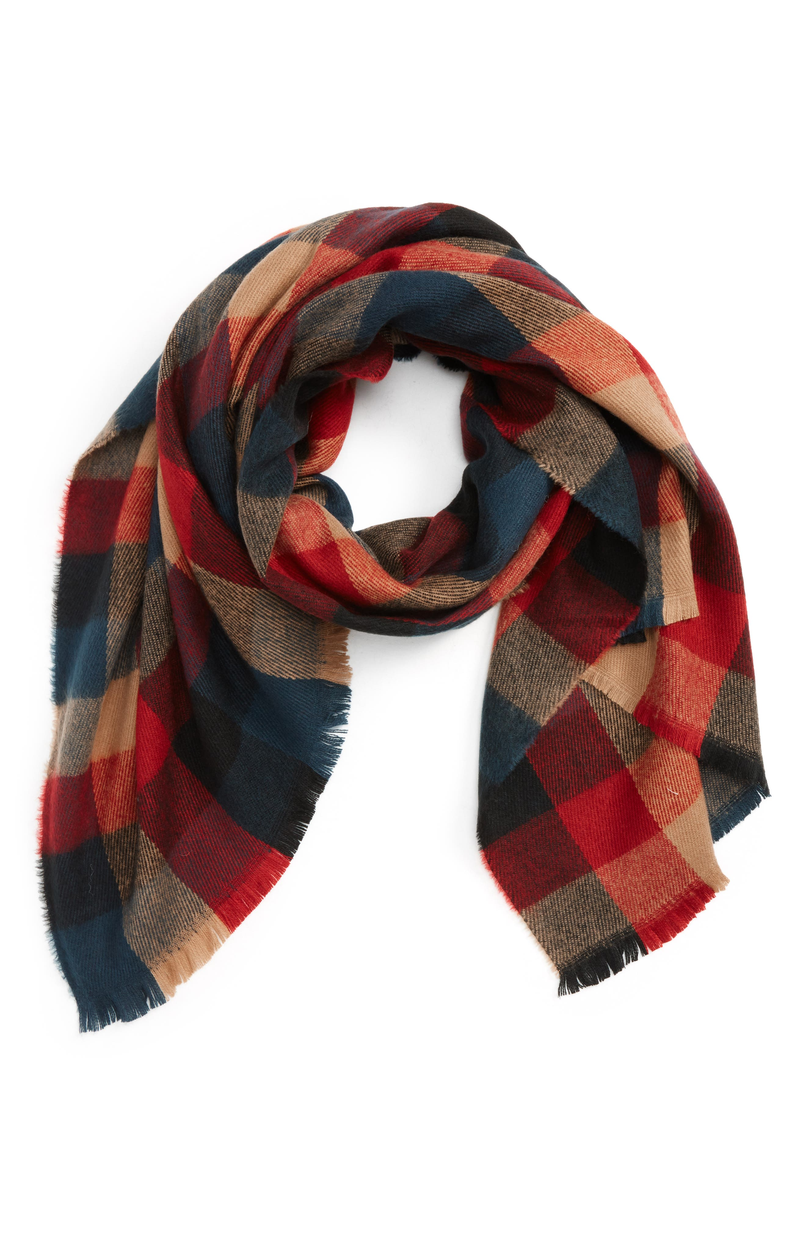 BP. Checkered Oblong Scarf
