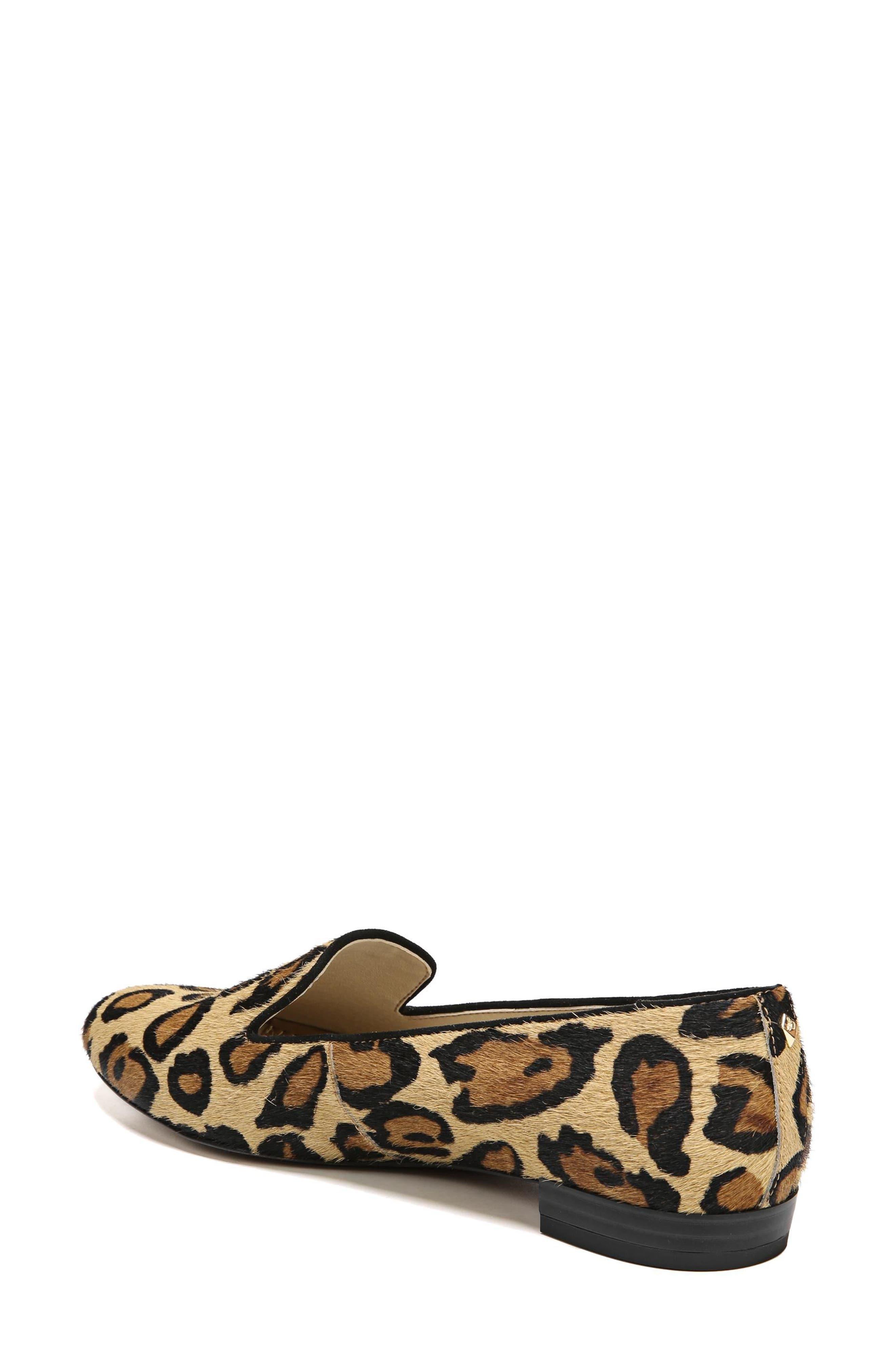 Jordy Genuine Calf Hair Flat,                             Alternate thumbnail 2, color,                             New Nude Leopard Brahma Hair