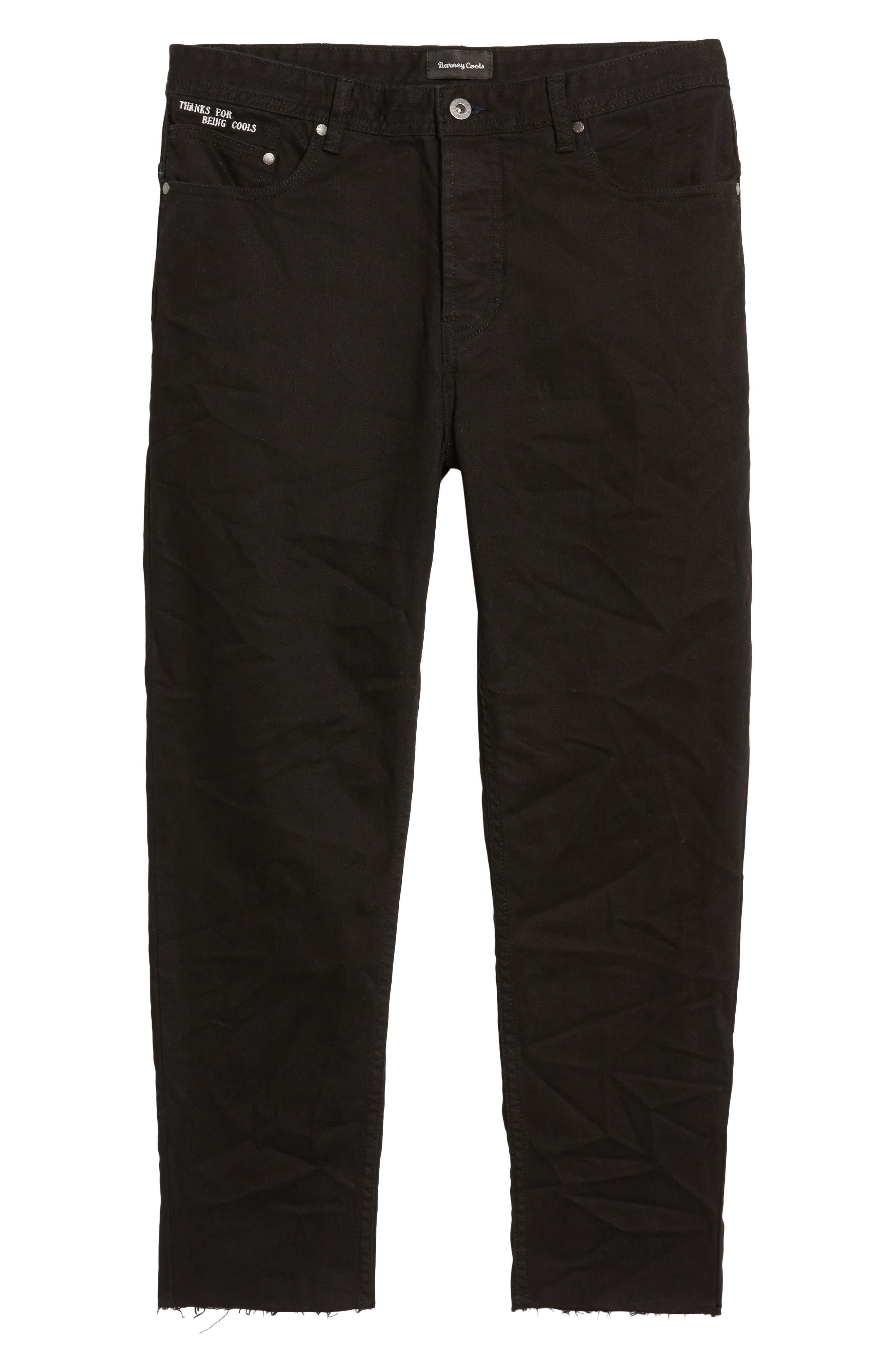 B.Line Crop Slim Fit Jeans,                             Alternate thumbnail 6, color,                             Washed Black