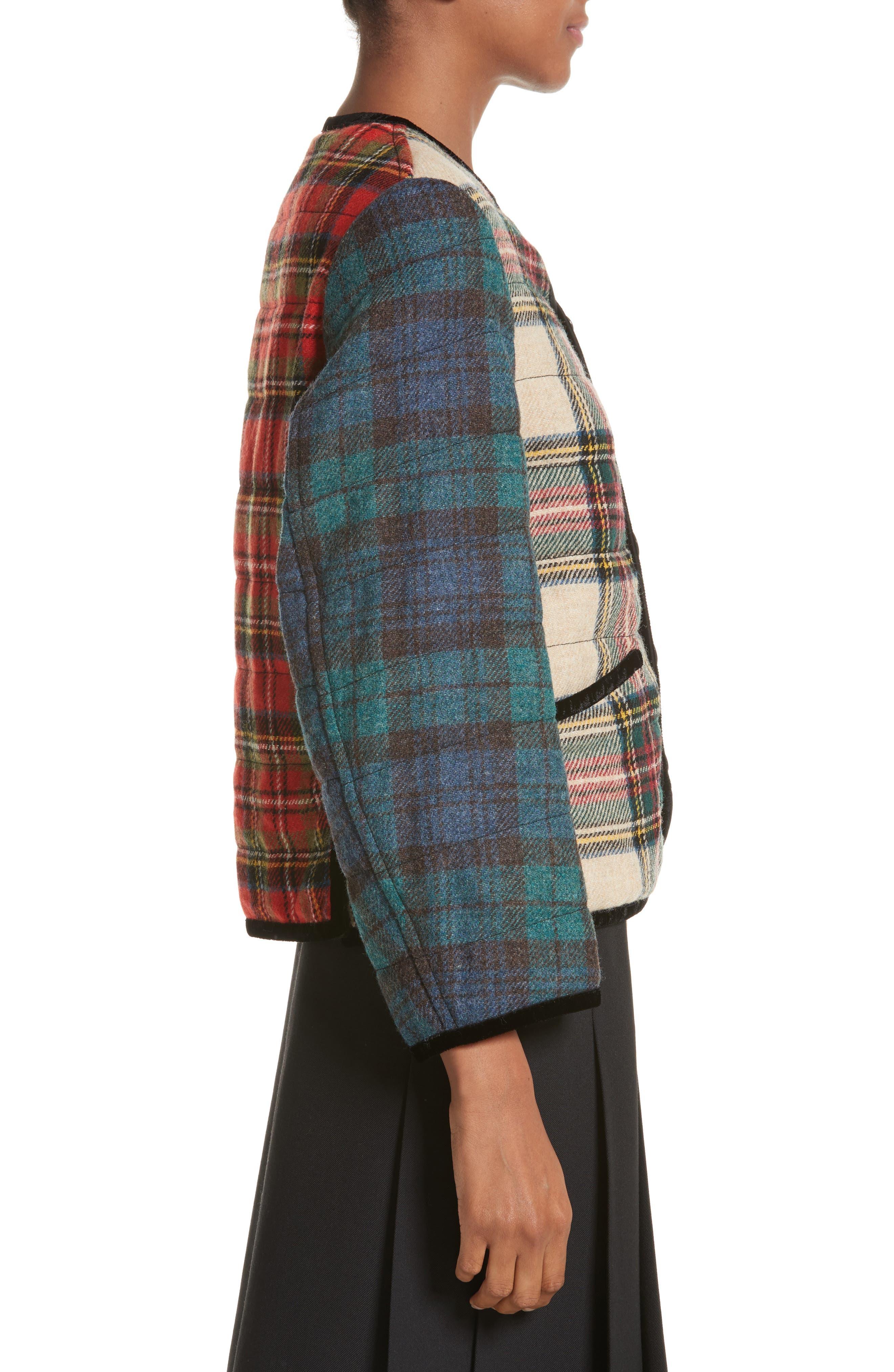 Alternate Image 3  - Tricot Comme des Garçons Mixed Tartan Wool Jacket
