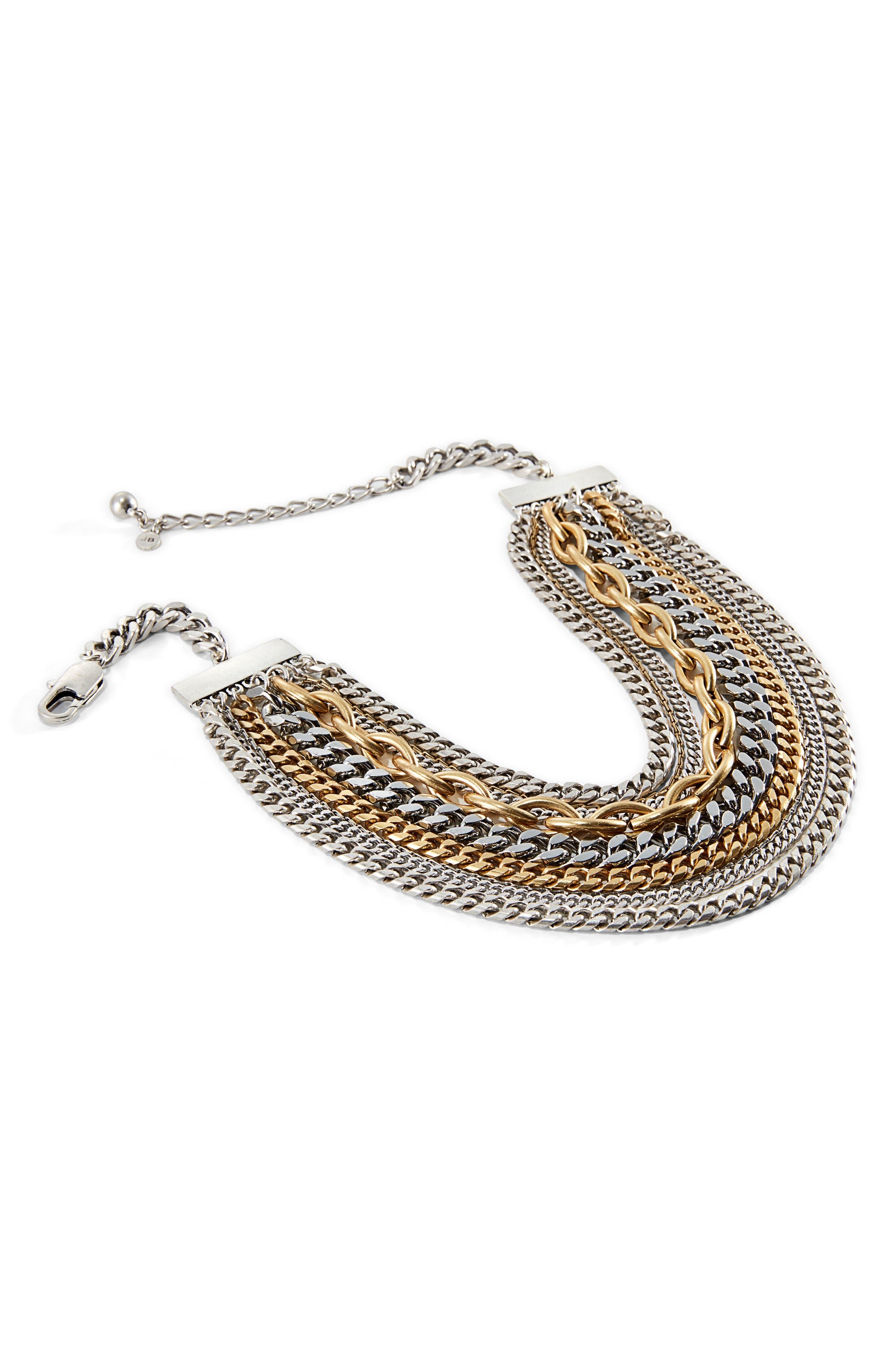 Marra Collar Necklace,                         Main,                         color, Silver Multi