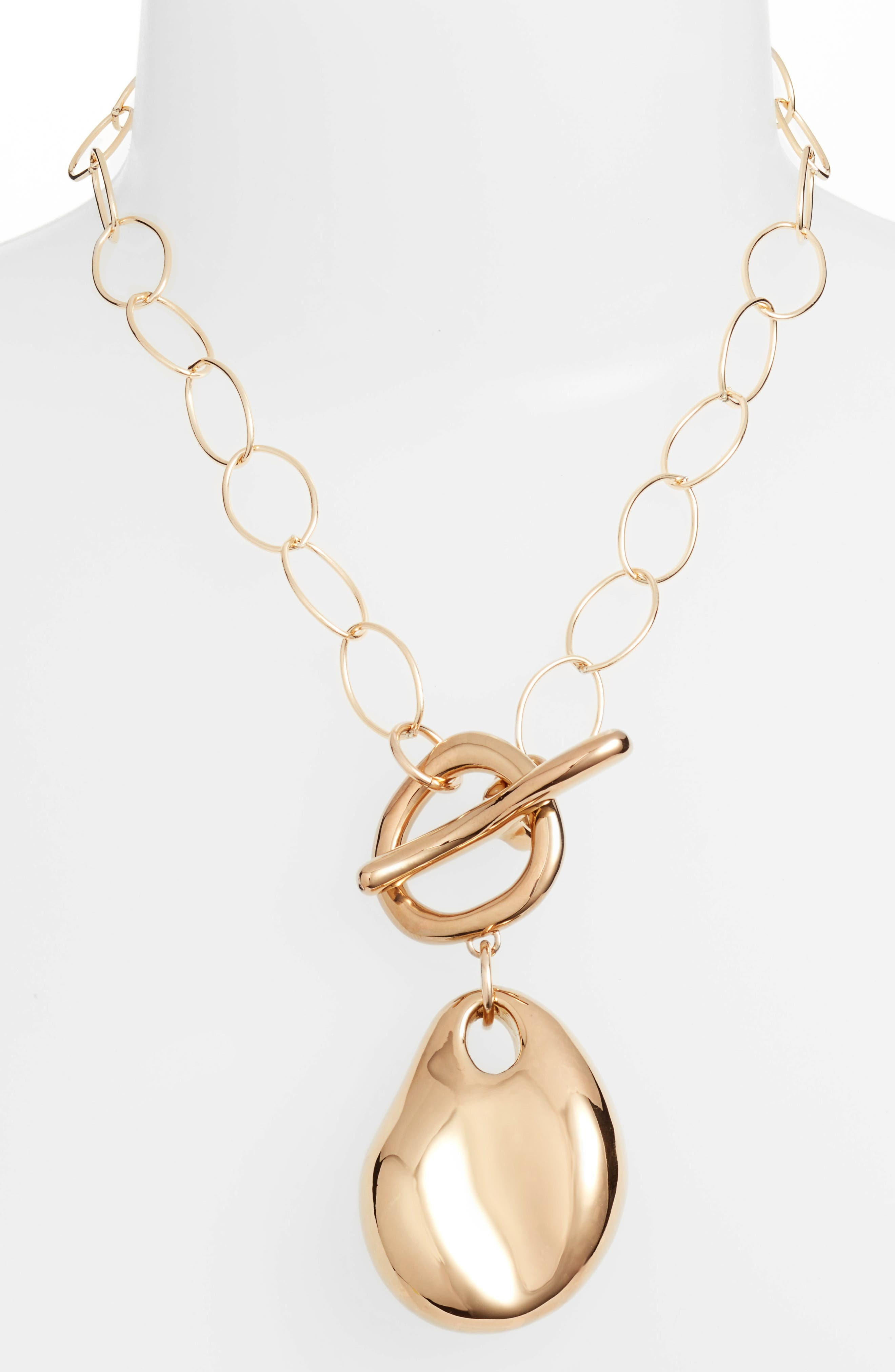 Simon Sebbag Vermeil Abstract Pendant Necklace