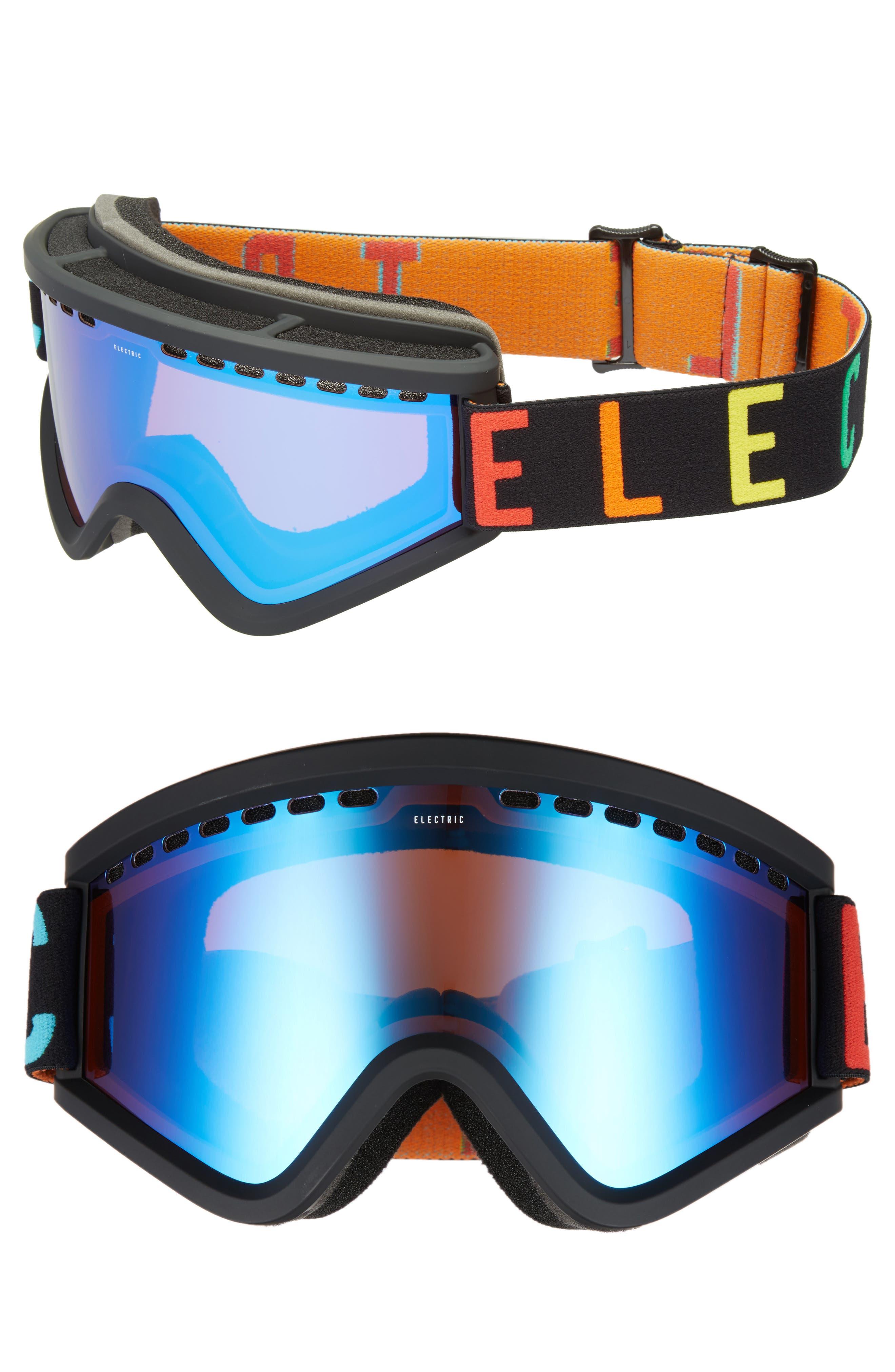 EGV Snow Goggles,                         Main,                         color, Wordmark/ Blue Chrome