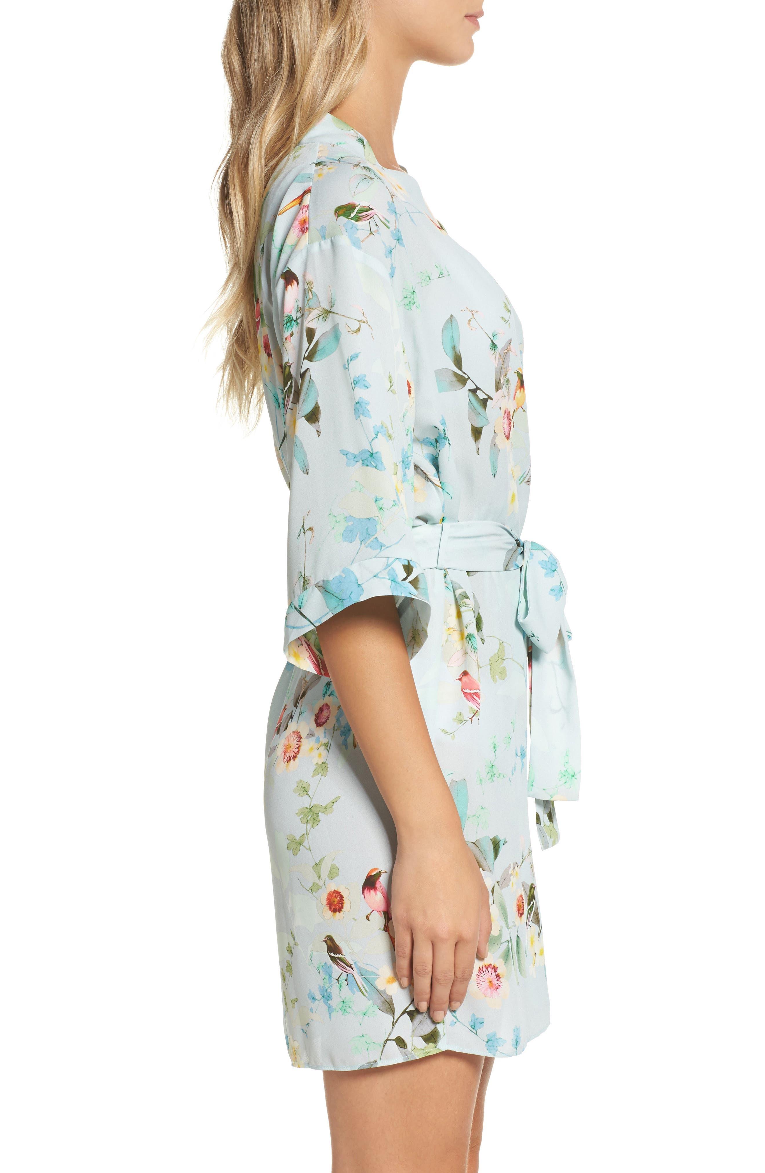 Alternate Image 3  - Flora Nikrooz Alison Floral Kimono Robe