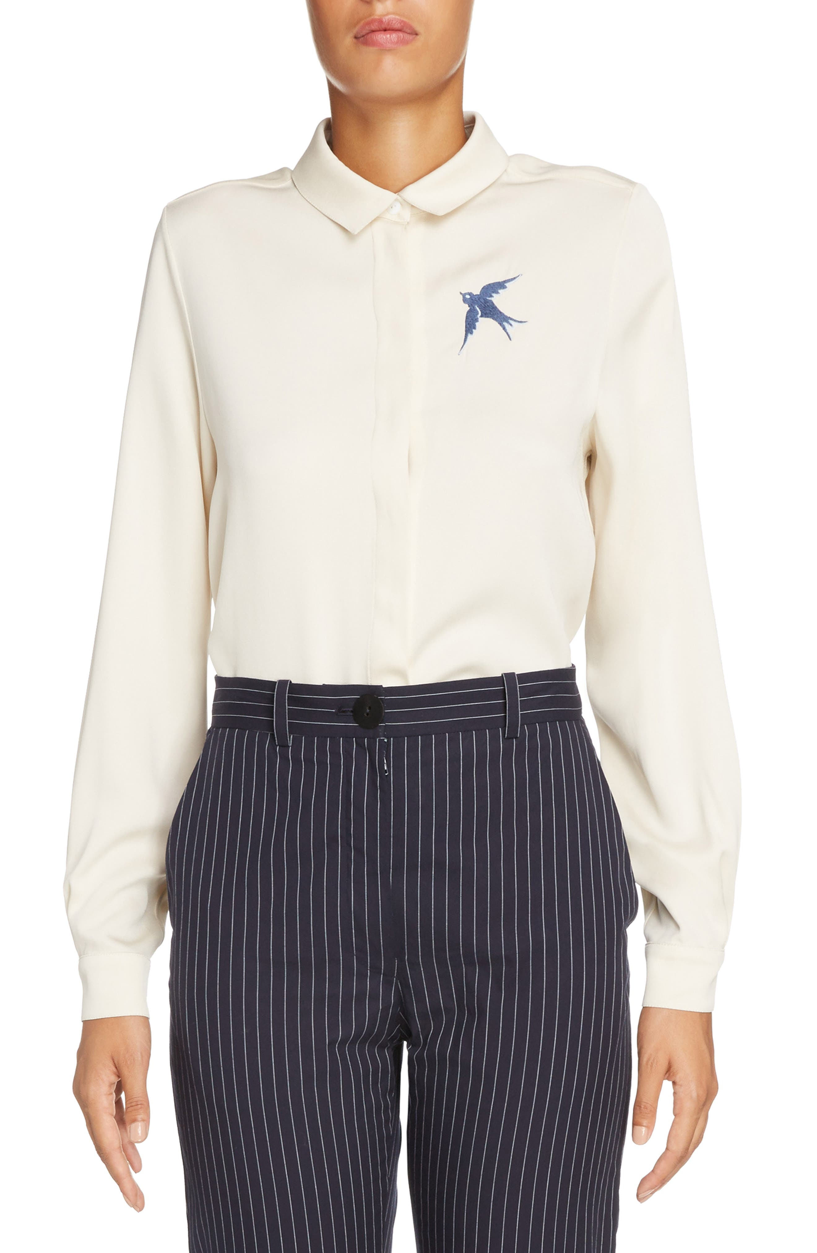 Main Image - J.W.ANDERSON Swallow Emboidered Blouse