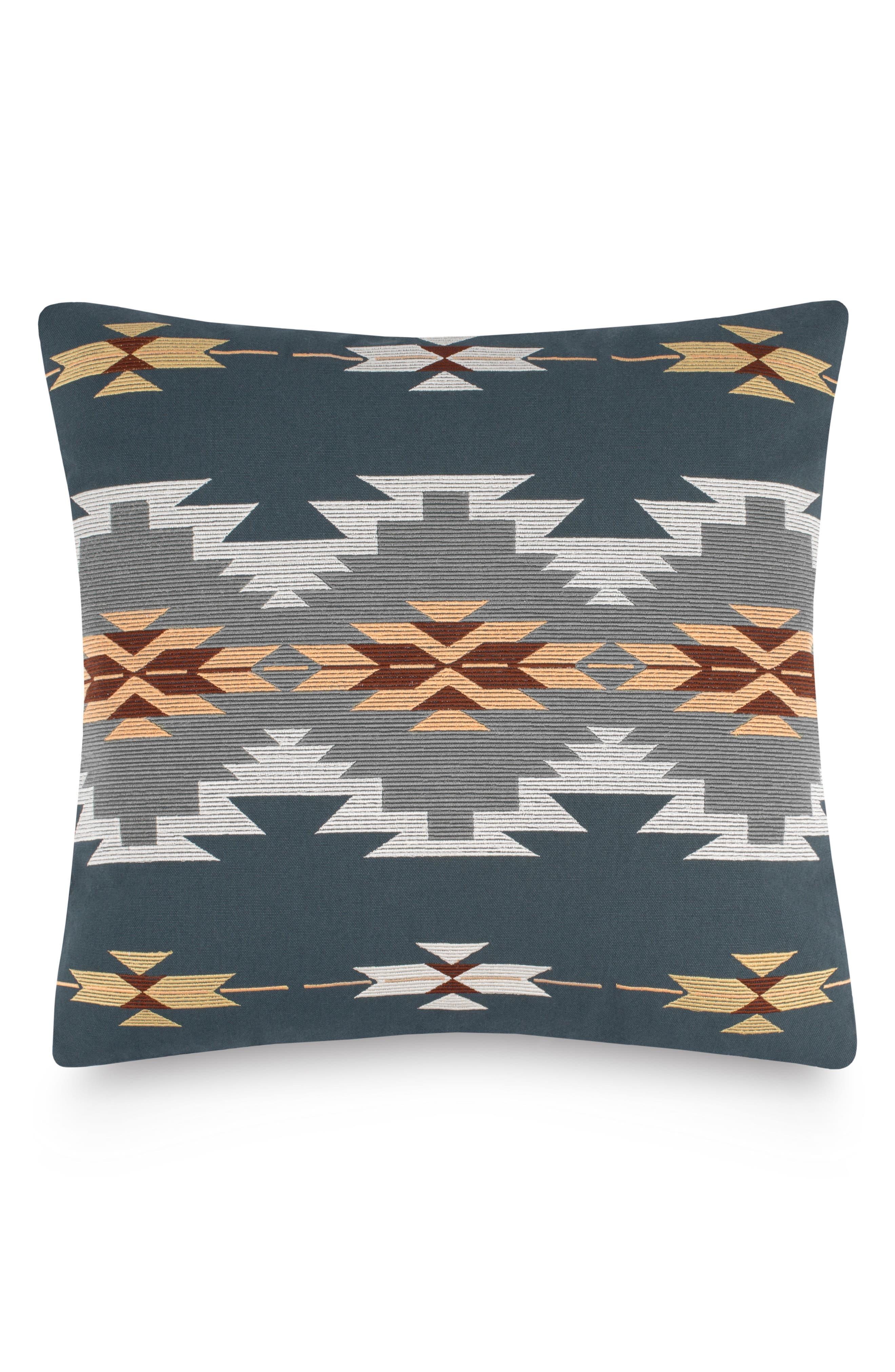 Crystal Peak Accent Pillow,                             Main thumbnail 1, color,                             Dark Slate