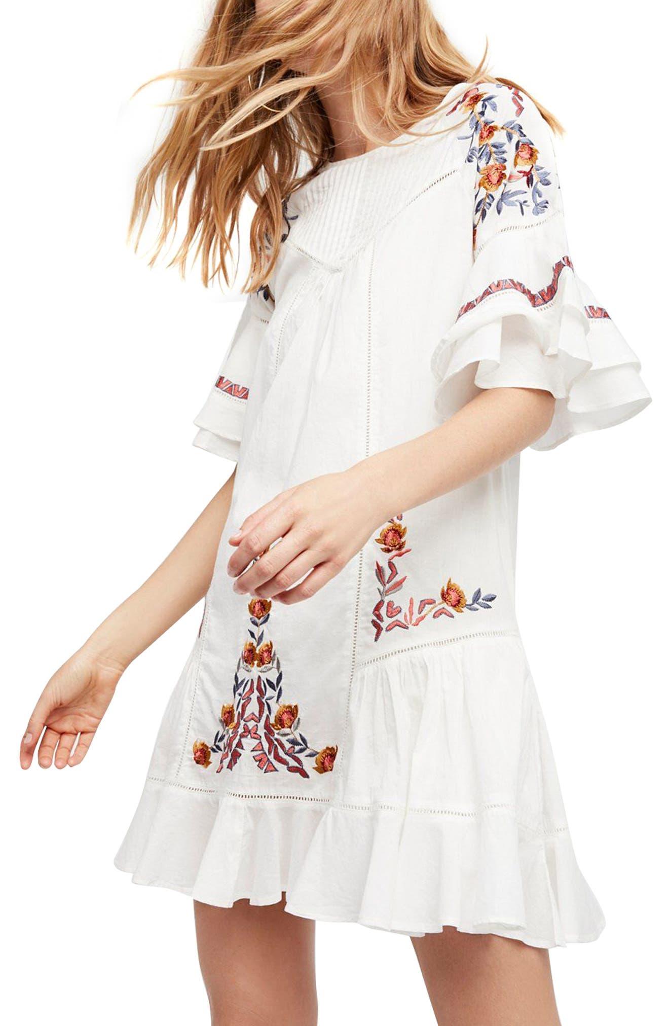 Pavlo Babydoll Dress,                         Main,                         color, Ivory