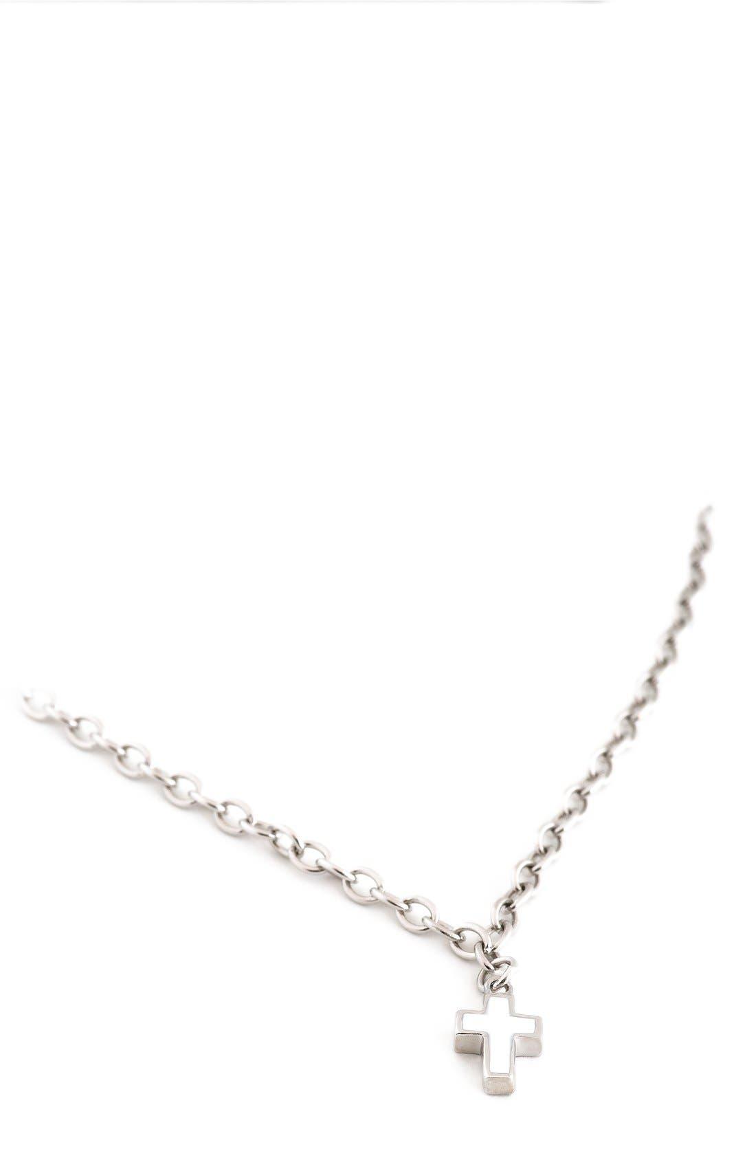 SPEIDEL Enameled Cross Sterling Silver Pendant Necklace