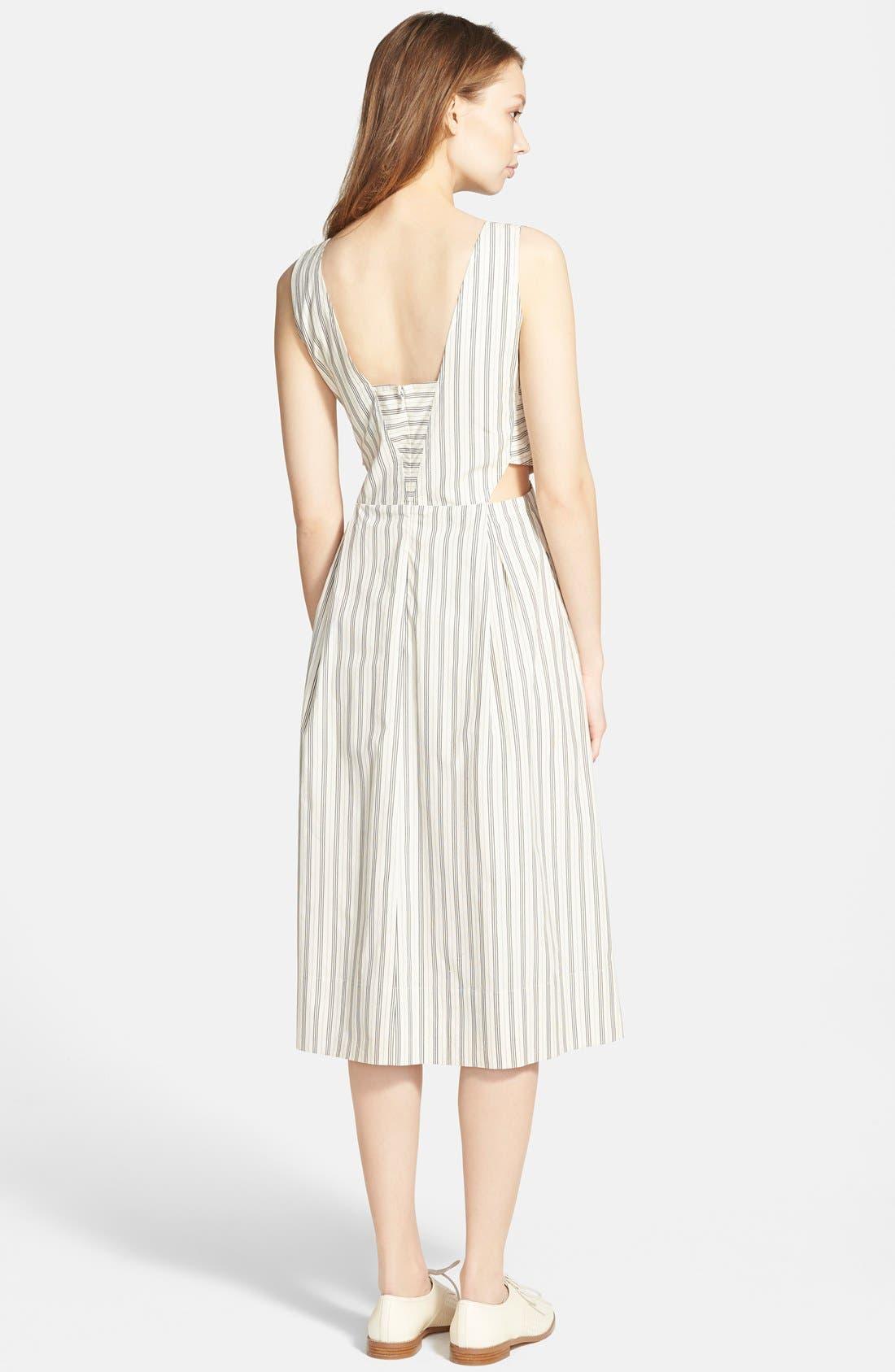Alternate Image 2  - Madewell Cutout Stripe Sundress