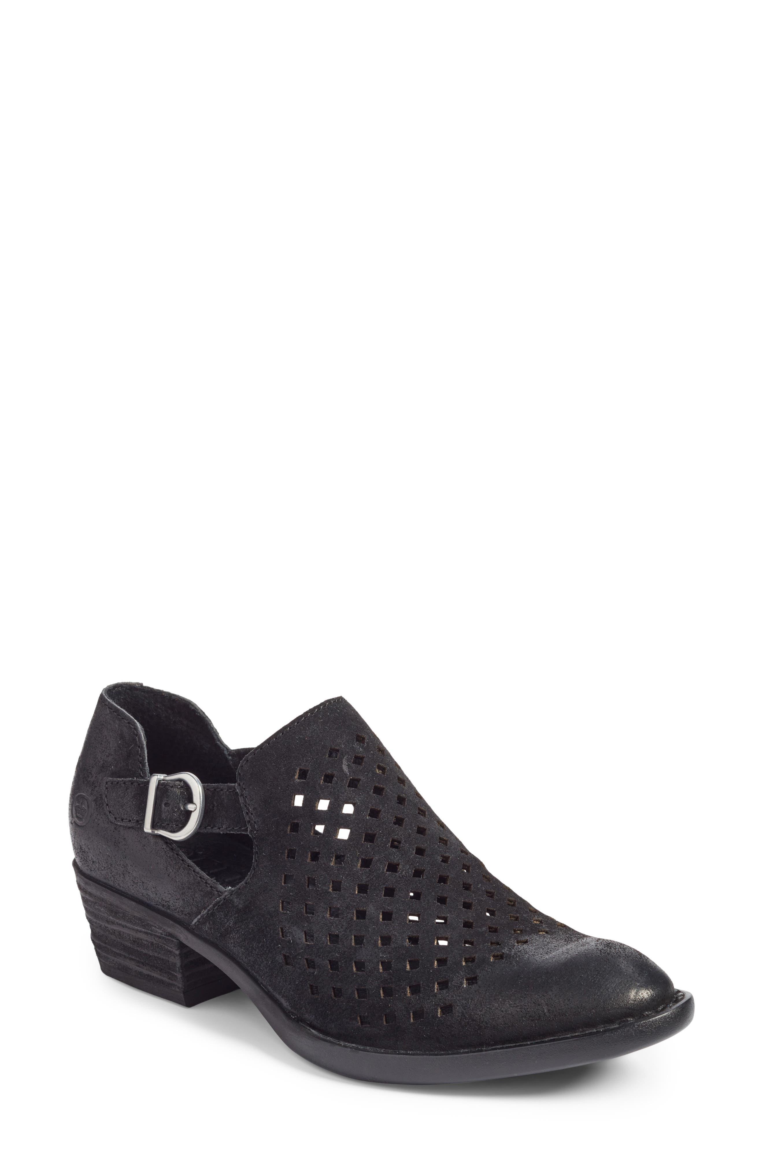 Nanna Bootie,                         Main,                         color, Black Leather