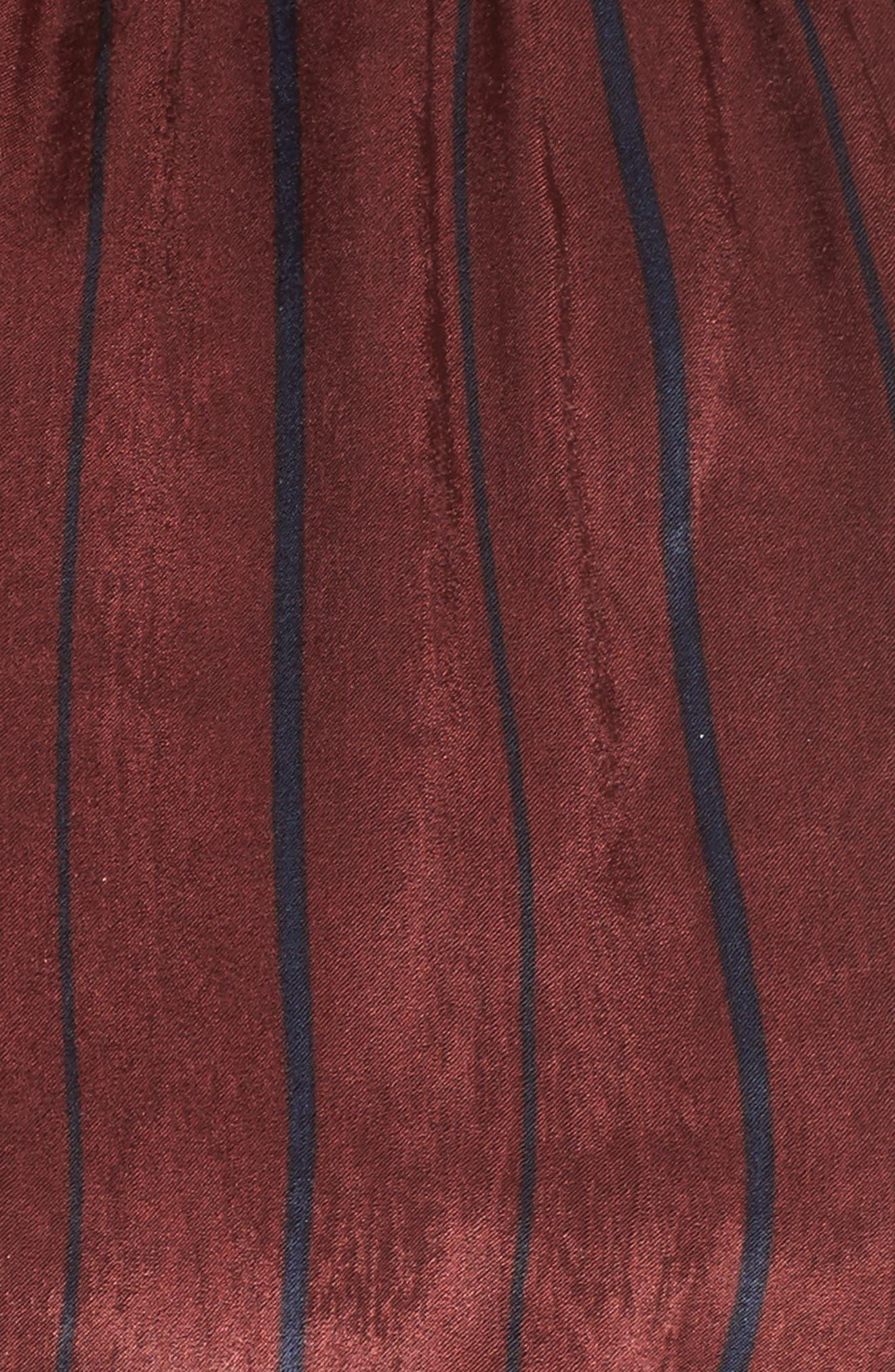Cold Shoulder Maxi Dress,                             Alternate thumbnail 5, color,                             Wine Multi