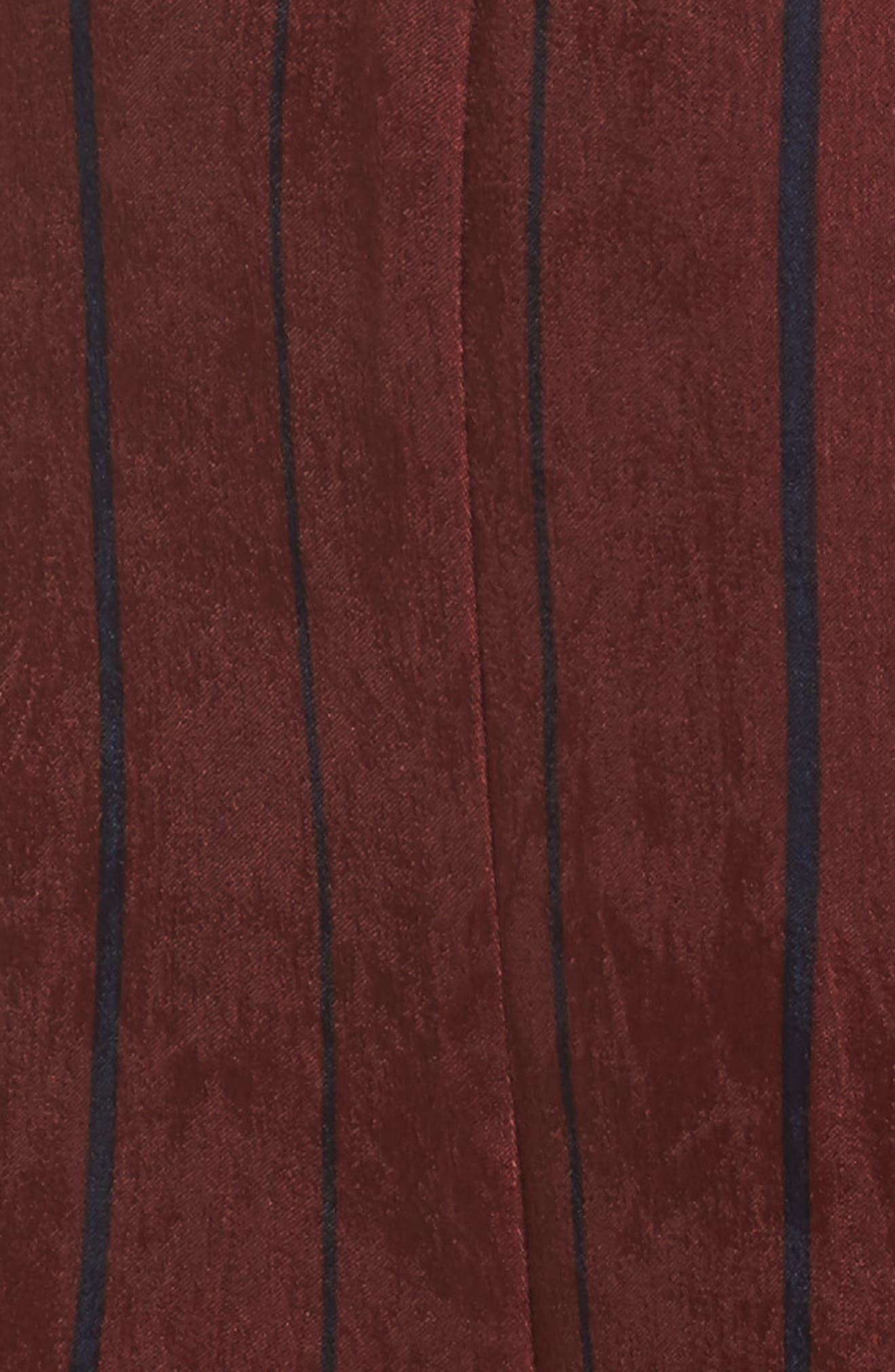 Stripe Jumpsuit,                             Alternate thumbnail 5, color,                             Wine Multi