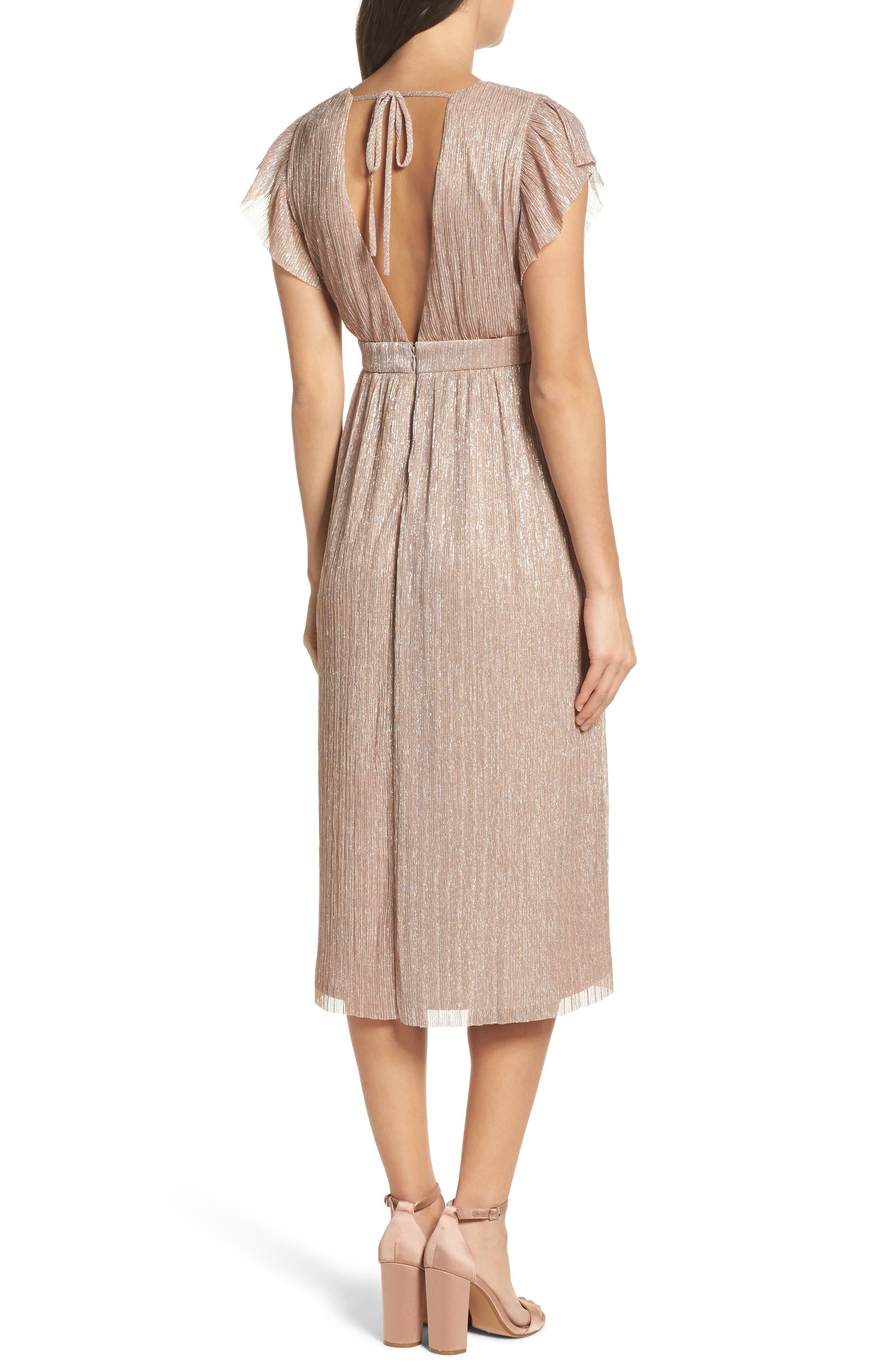 Alternate Image 2  - Chelsea28 Metallic Midi Dress