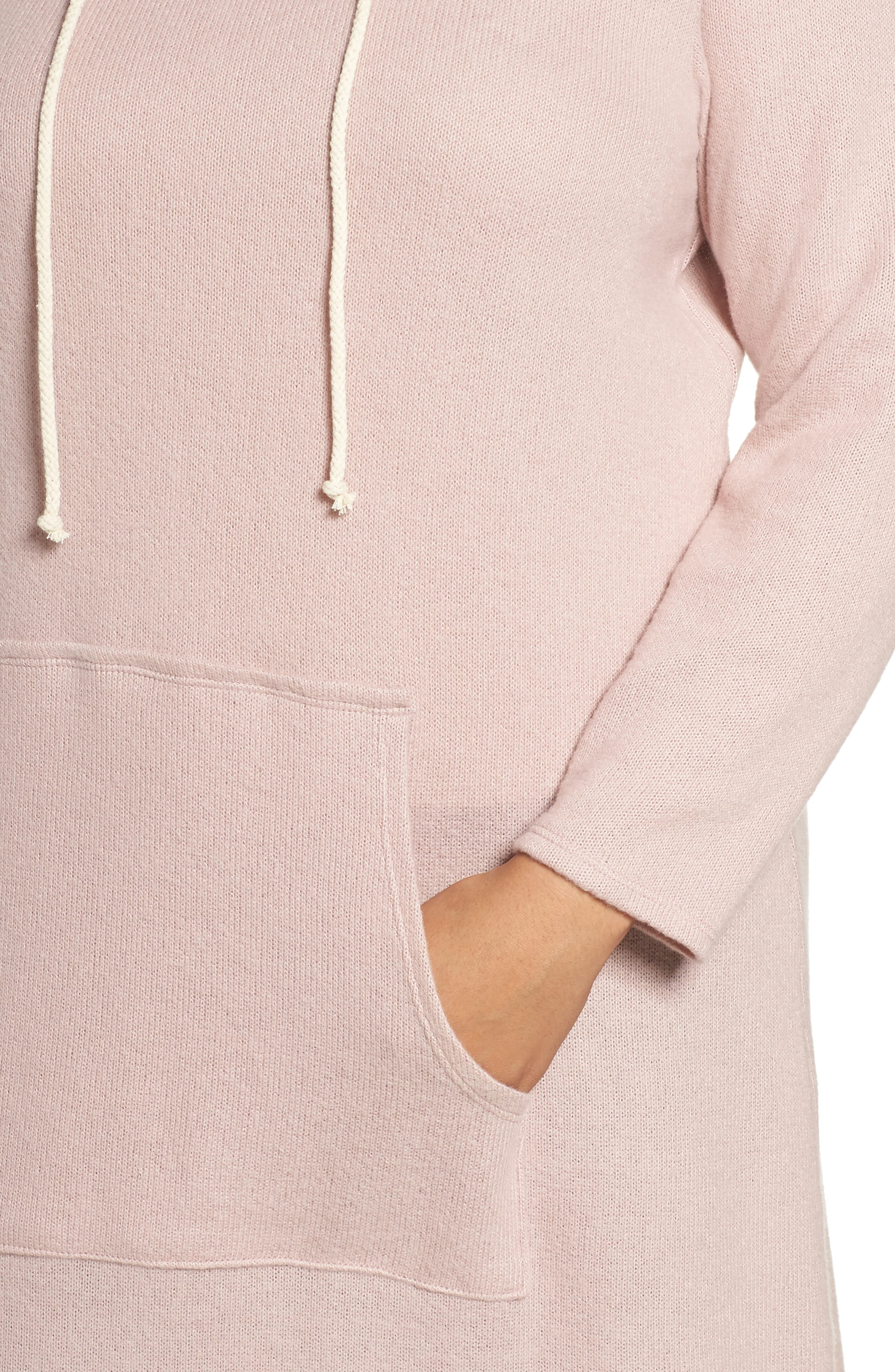 Alternate Image 4  - Caslon® Hooded Knit Tunic (Plus Size)