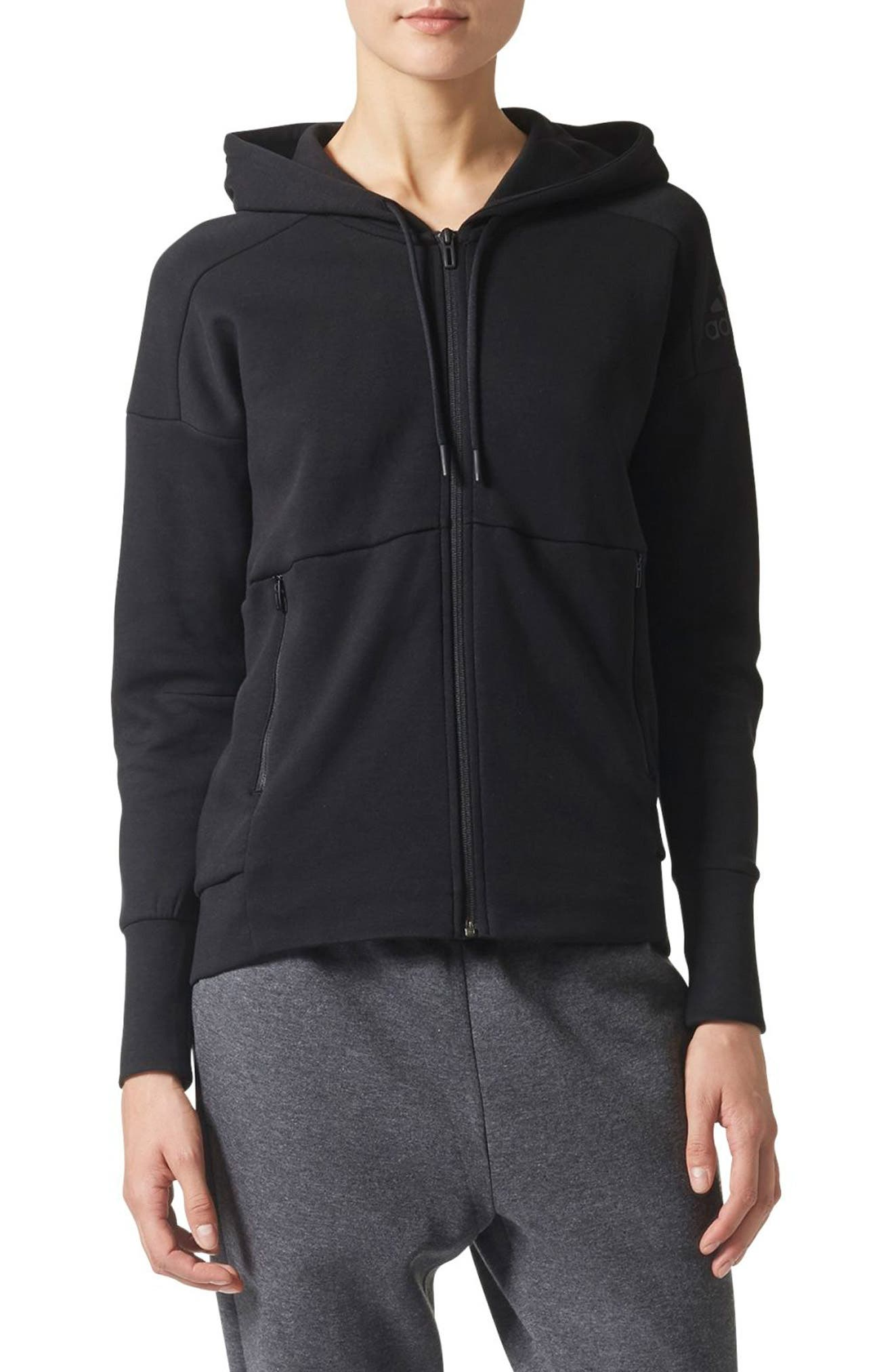ID Stadium Hoodie,                         Main,                         color, Black