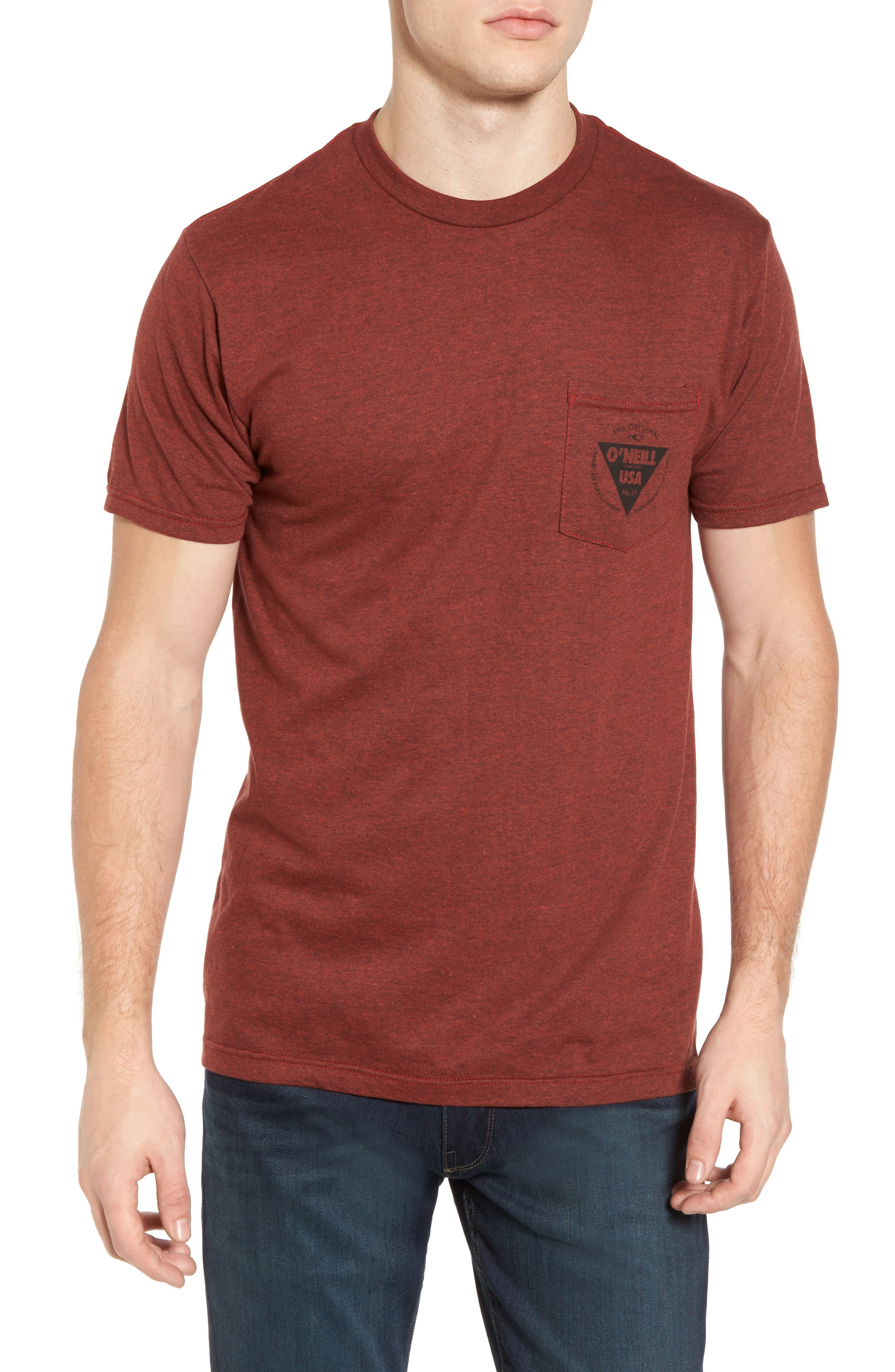 Diver Graphic Pocket T-Shirt,                         Main,                         color, Brown