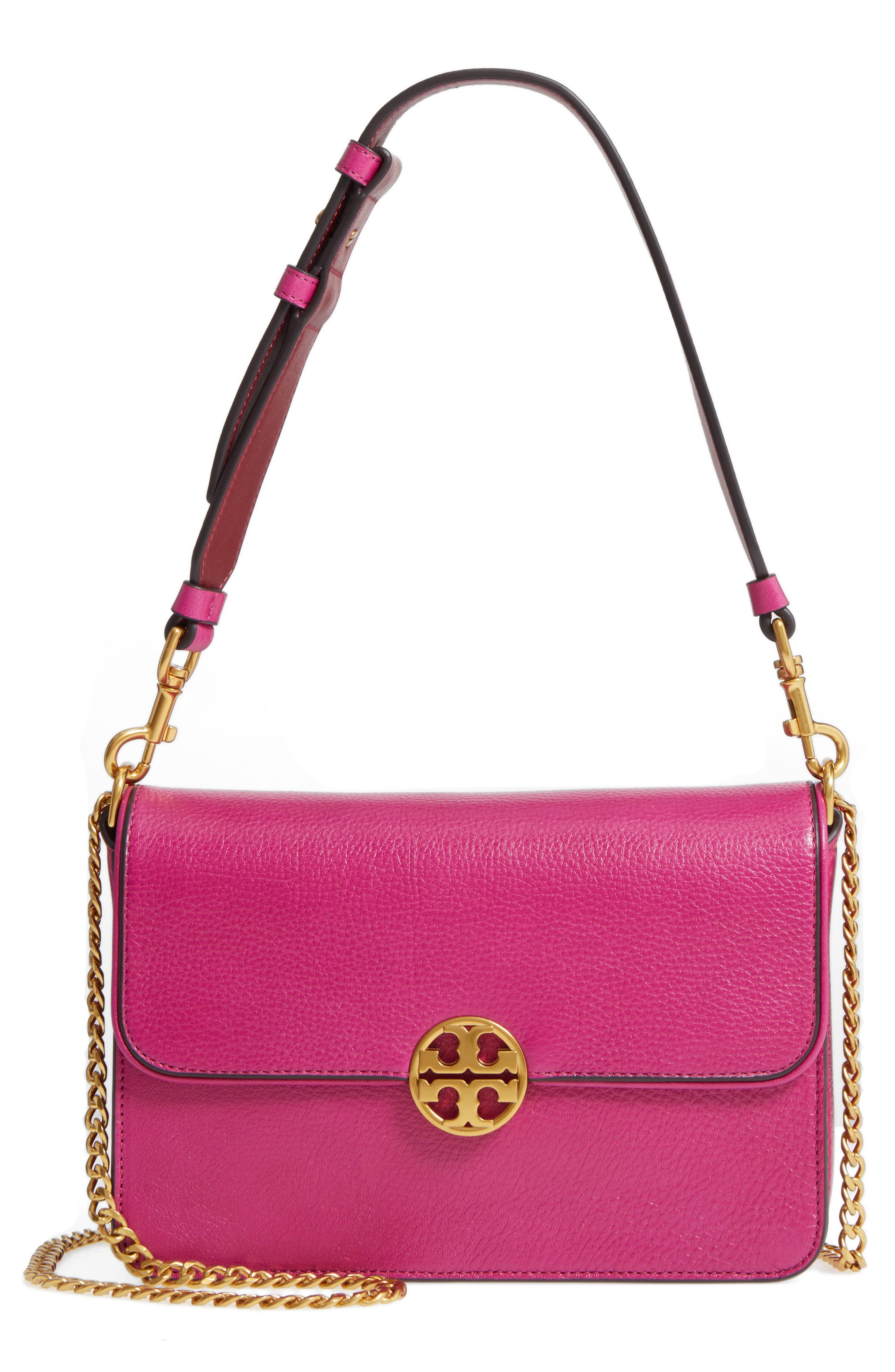 Tory Burch Chelsea Genuine Leather Shoulder Bag