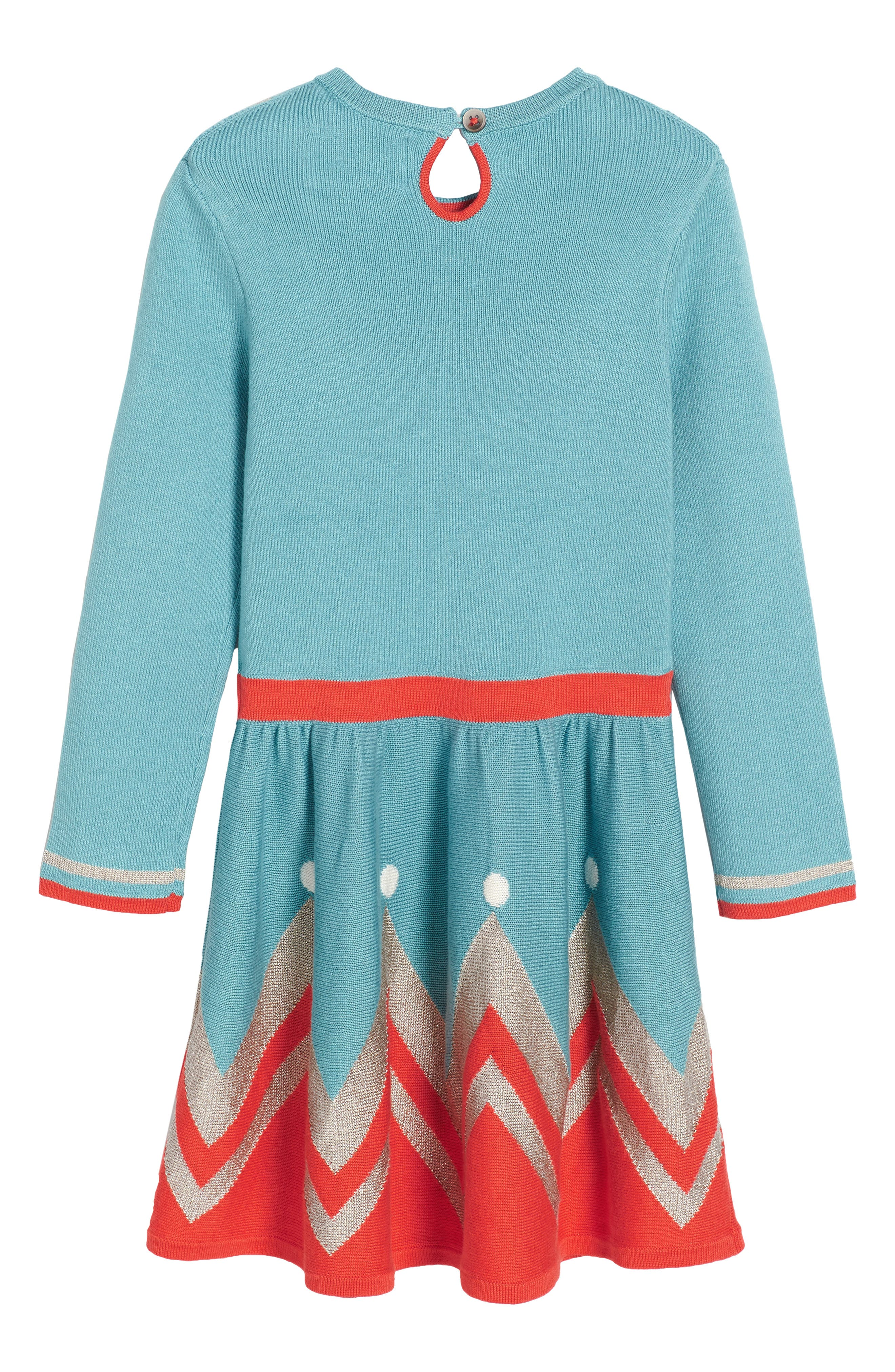 Alternate Image 2  - Mini Boden Sparkly Intarsia Knit Dress (Toddler Girls, Little Girls & Big Girls)