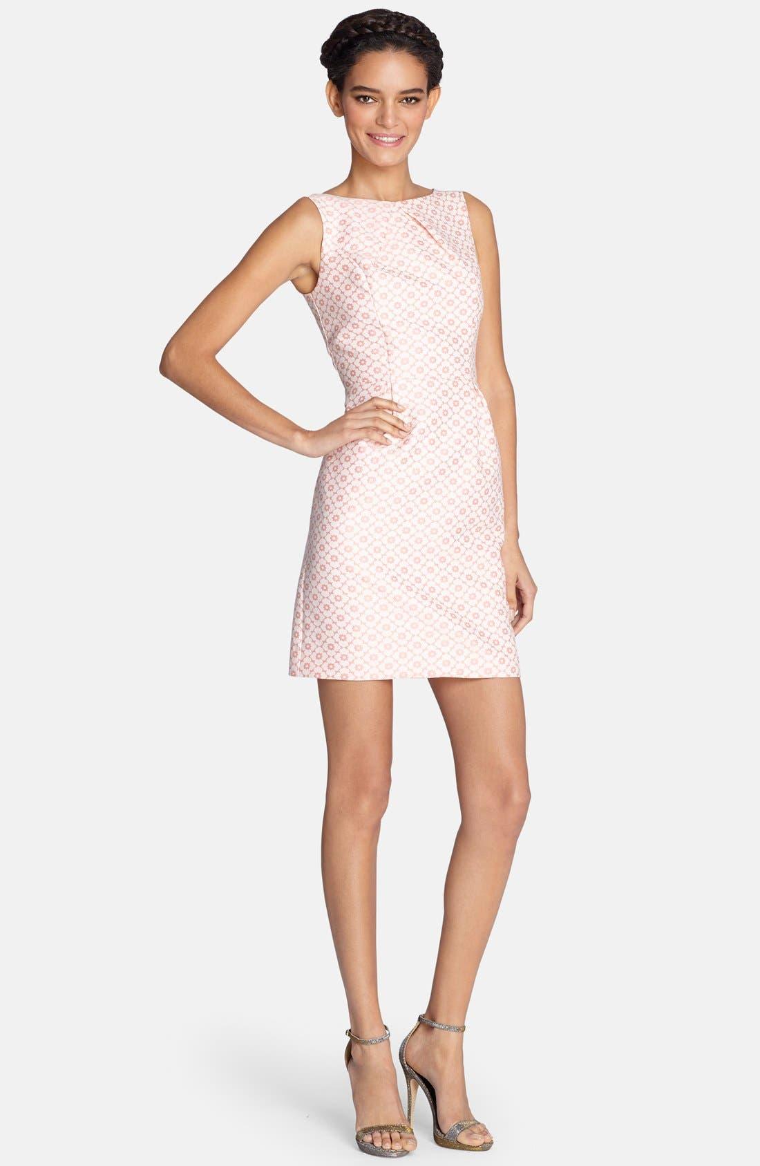 Main Image - Tahari Back Cutout Jacquard Sheath Dress
