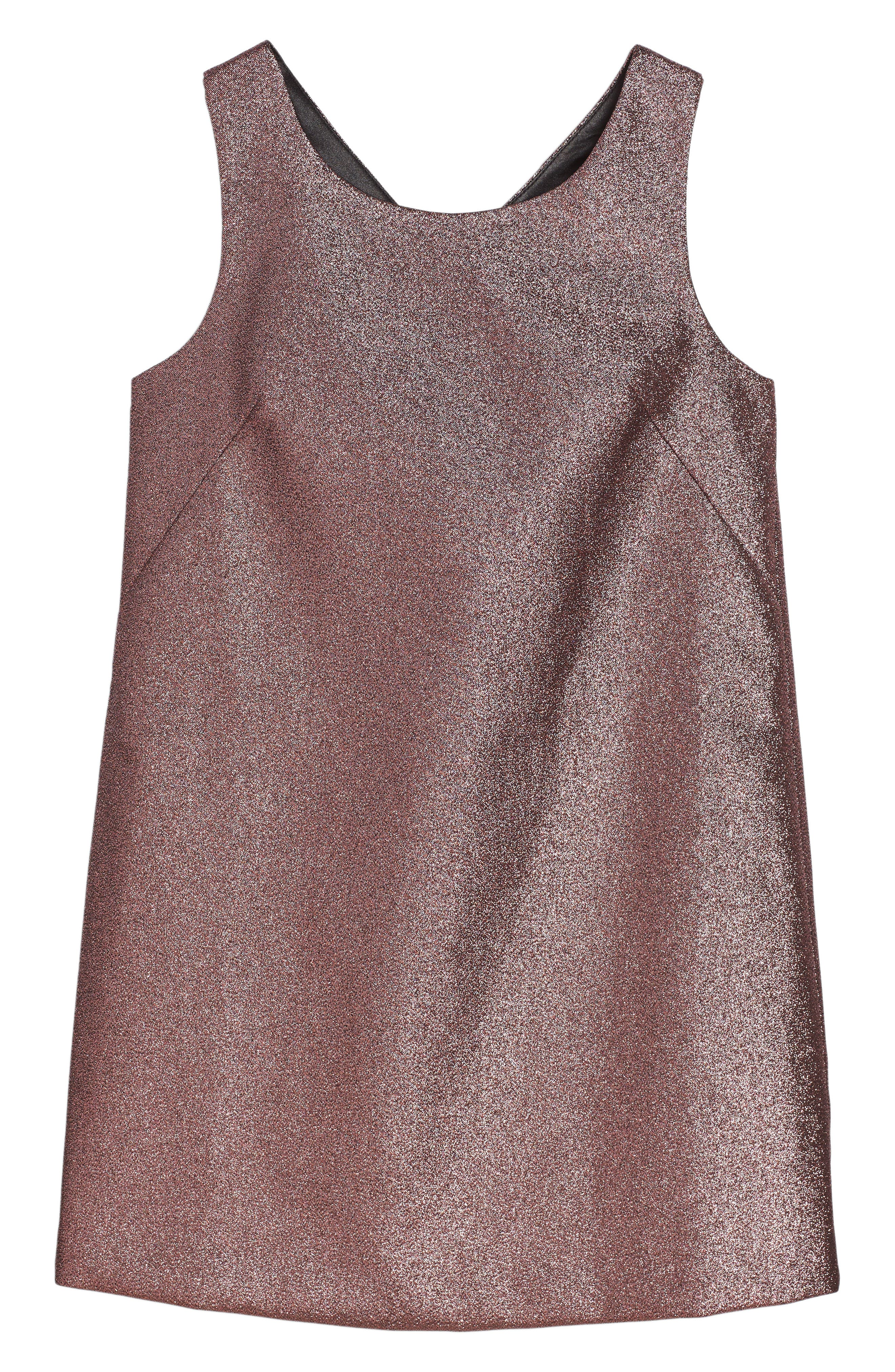 Milly Minis Back Bow Shift Dress (Big Girls)