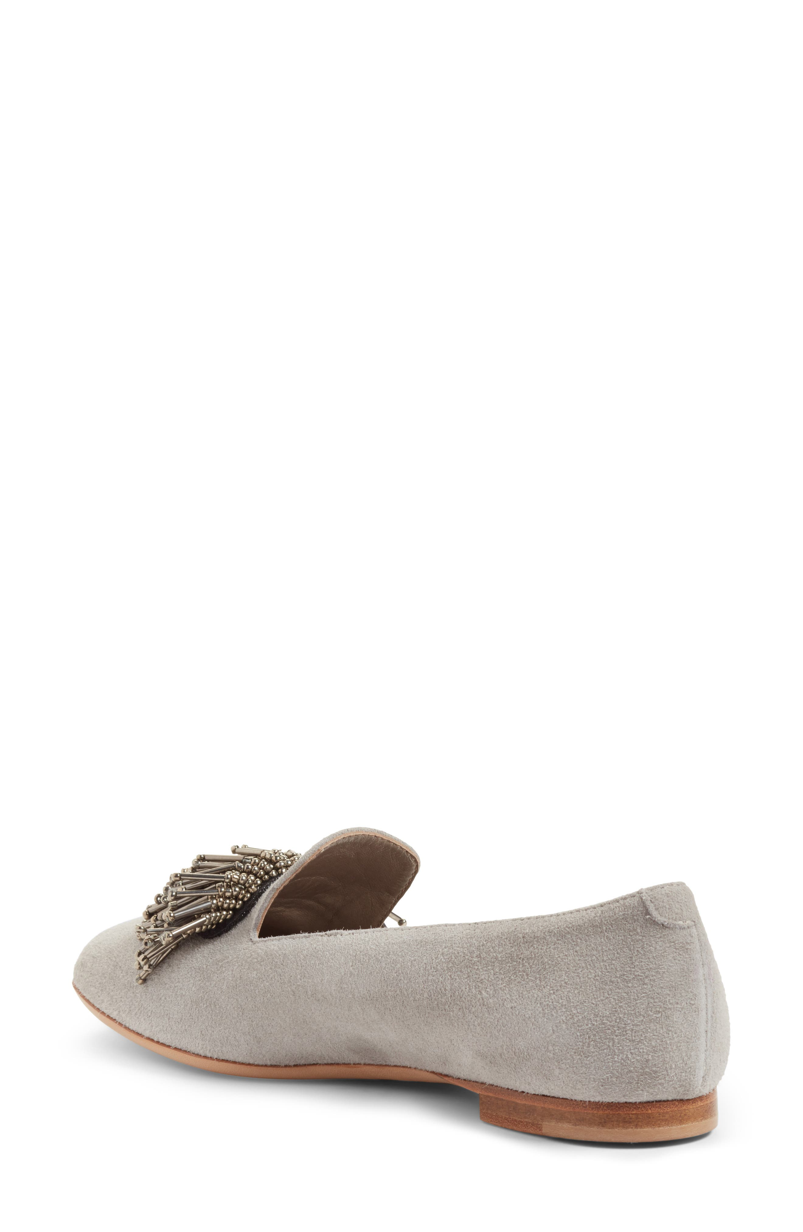 Beaded Loafer,                             Alternate thumbnail 2, color,                             Cube Grey Suede
