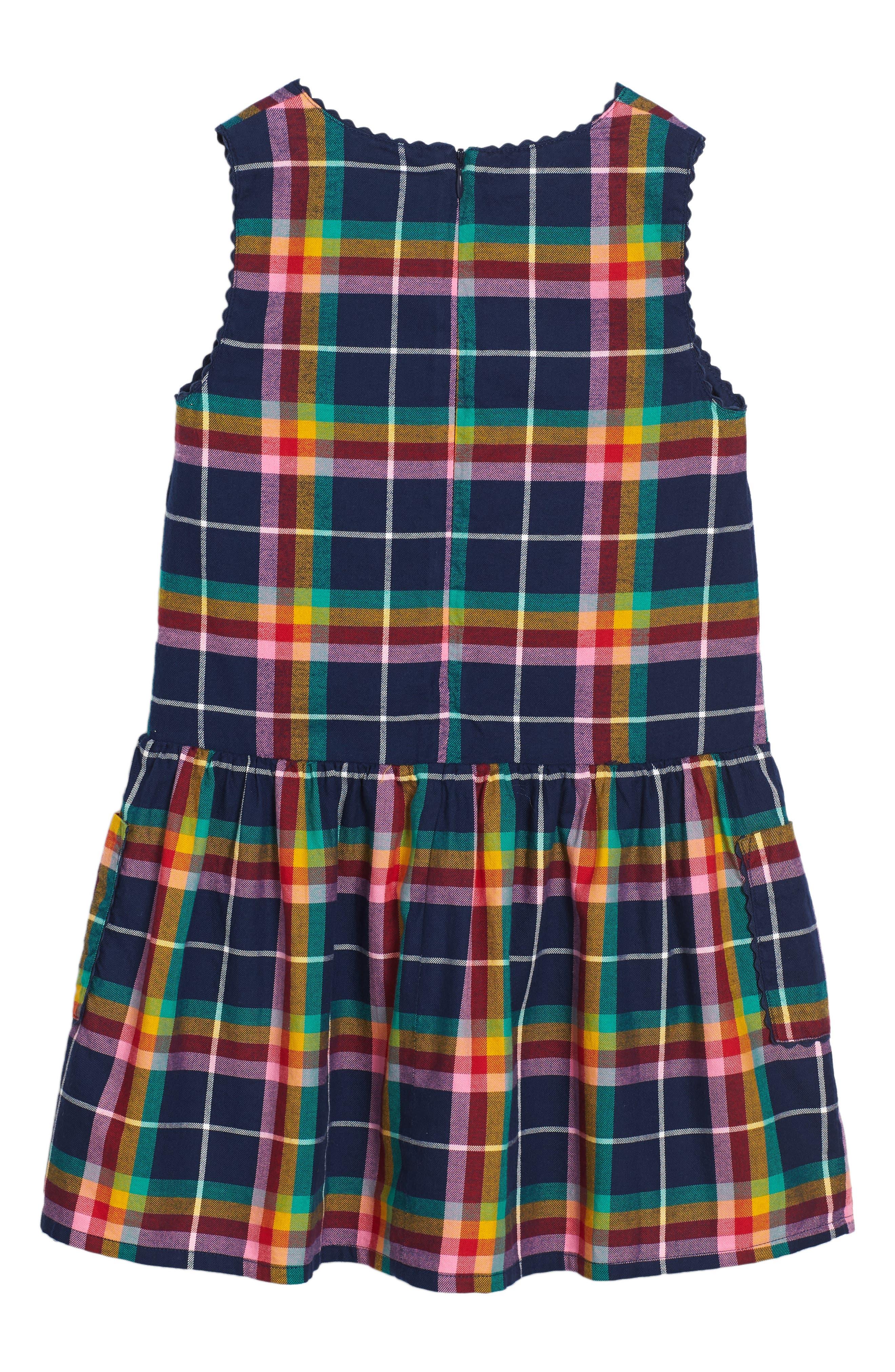Alternate Image 2  - Mini Boden Plaid Pinafore Dress (Toddler Girls, Little Girls & Big Girls)