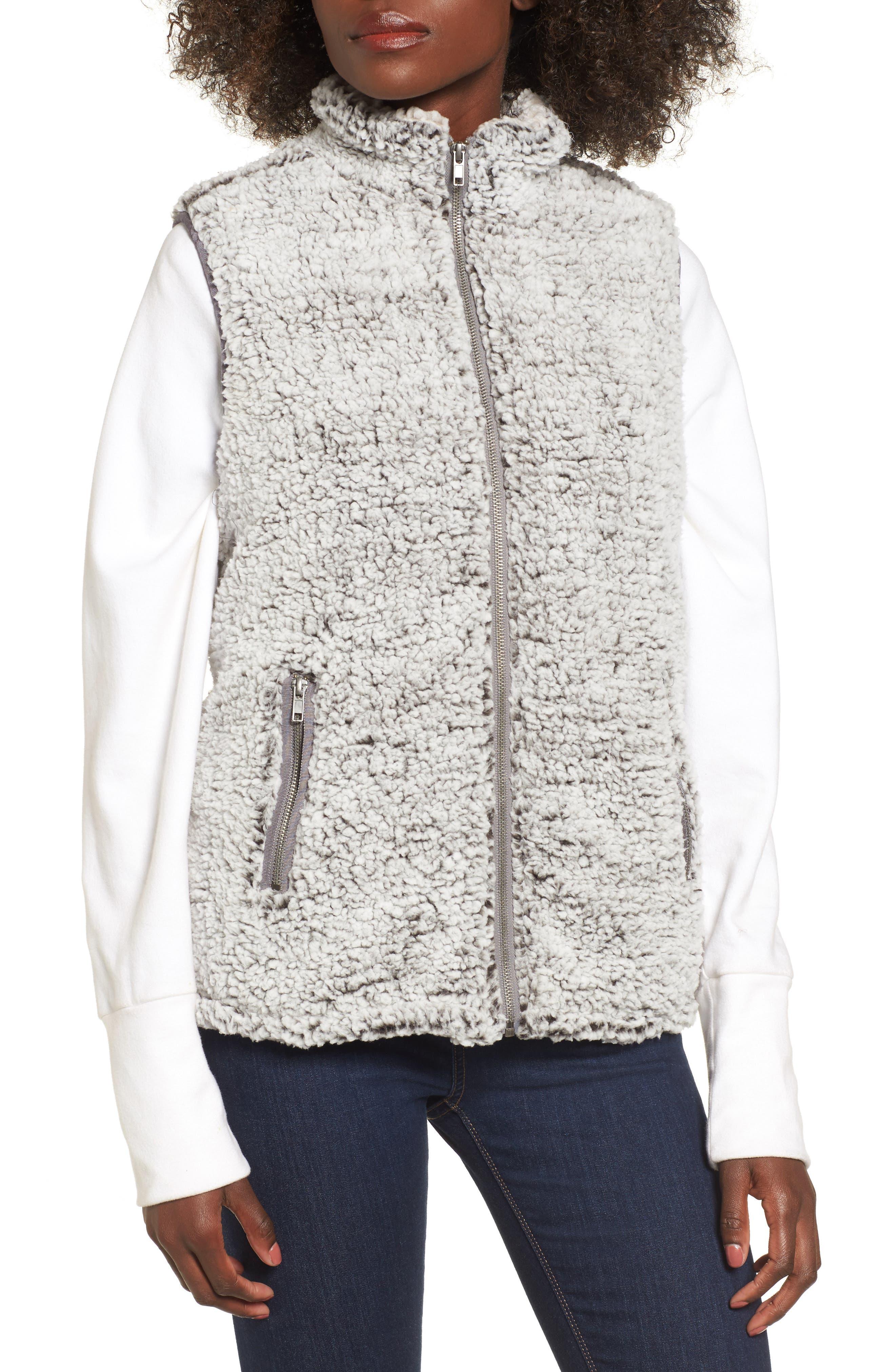 Arctic Fleece Vest,                             Alternate thumbnail 5, color,                             Charcoal