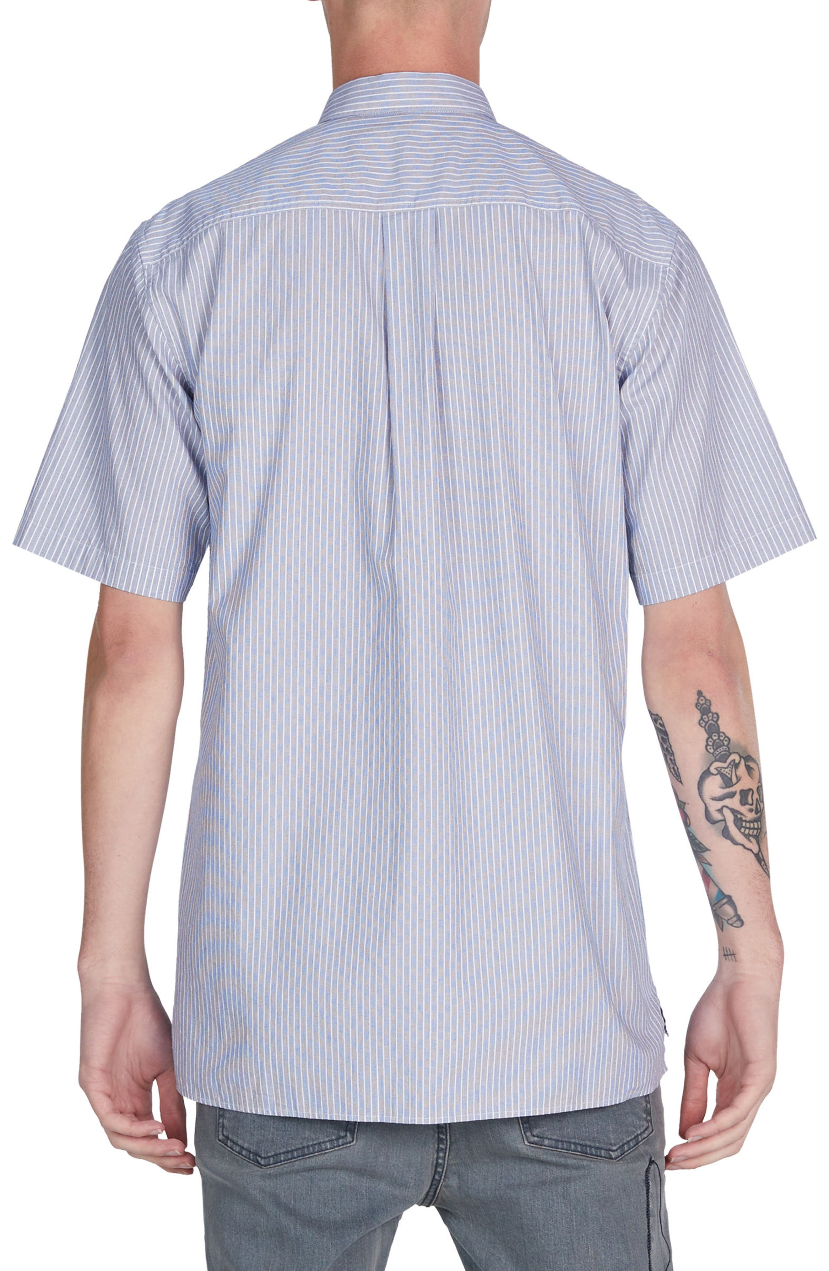 Stripe Box Shirt,                             Alternate thumbnail 2, color,                             Blue/ White