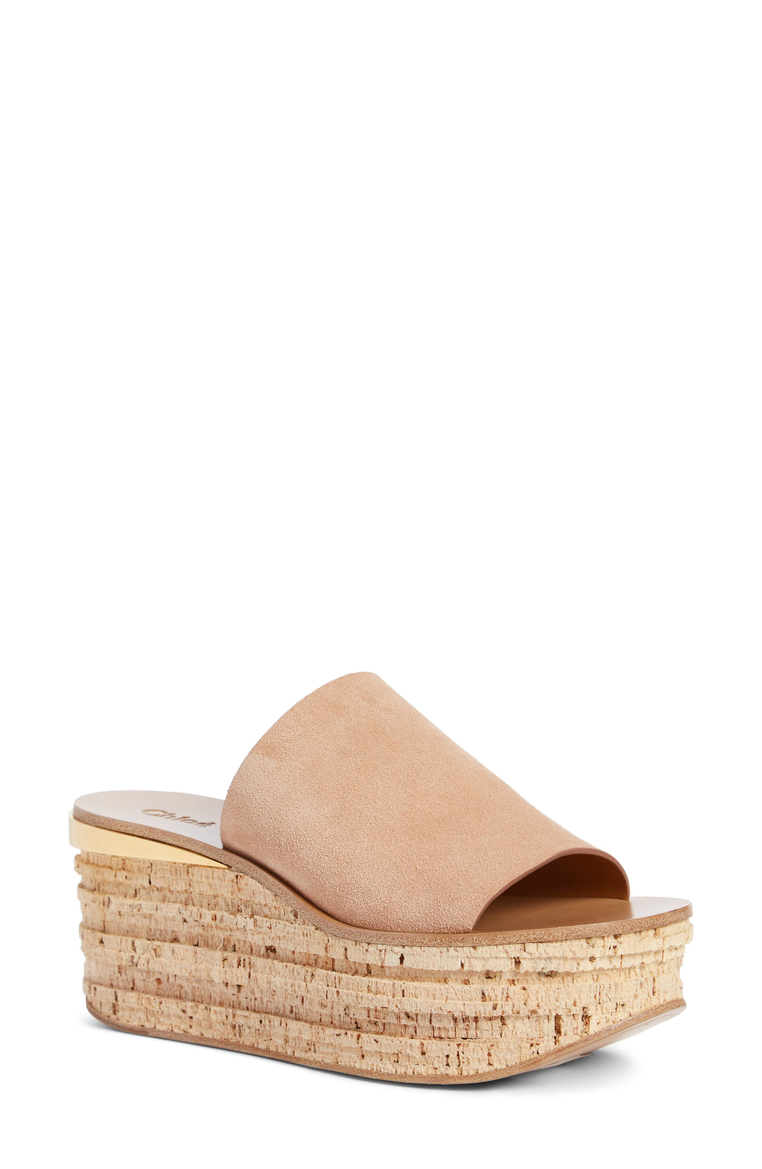 Alternate Image 1 Selected - Chloé Camille Cork Platform Sandal (Women)