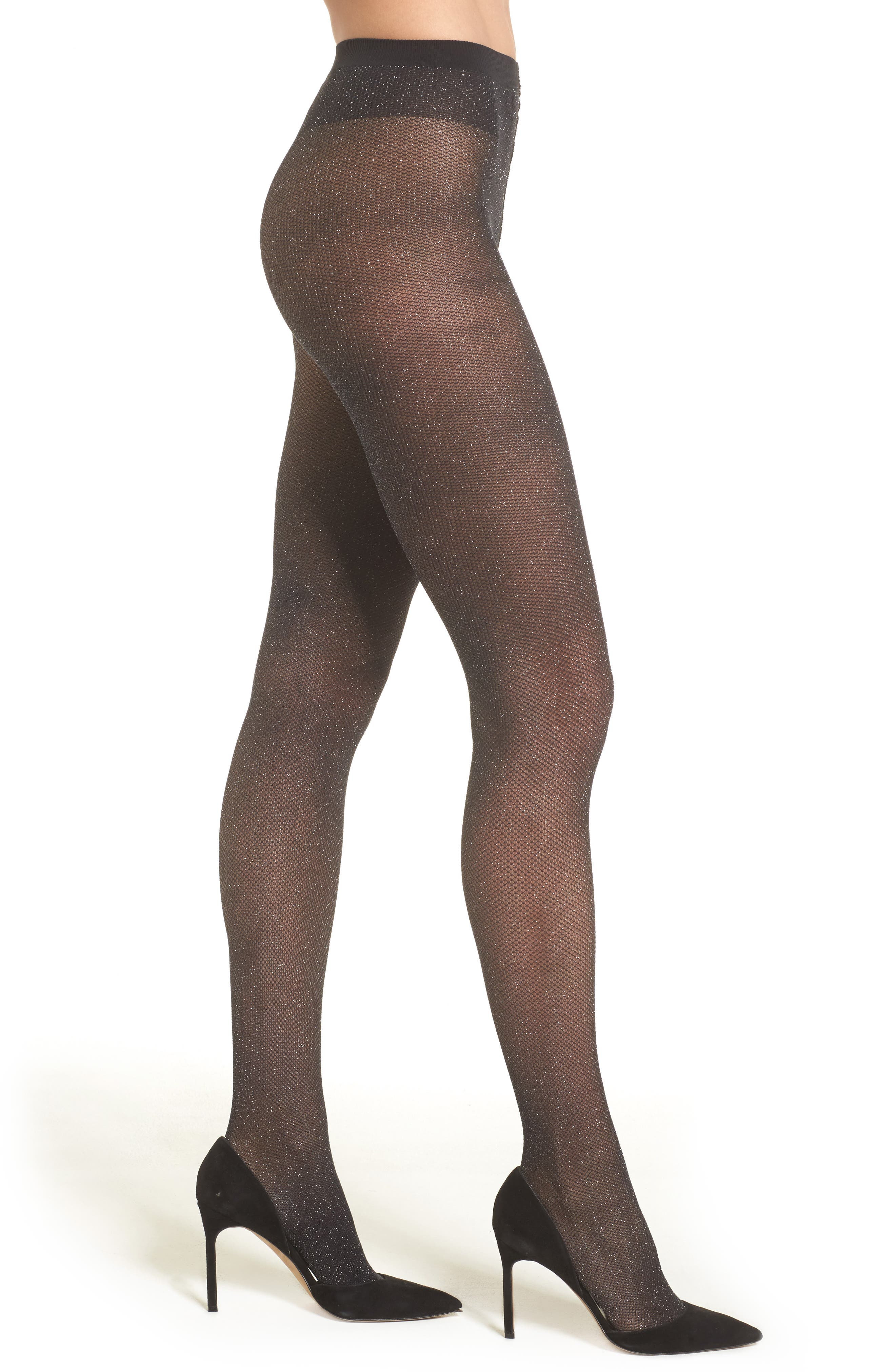 Alternate Image 1 Selected - Wolford Metallic Net Tights