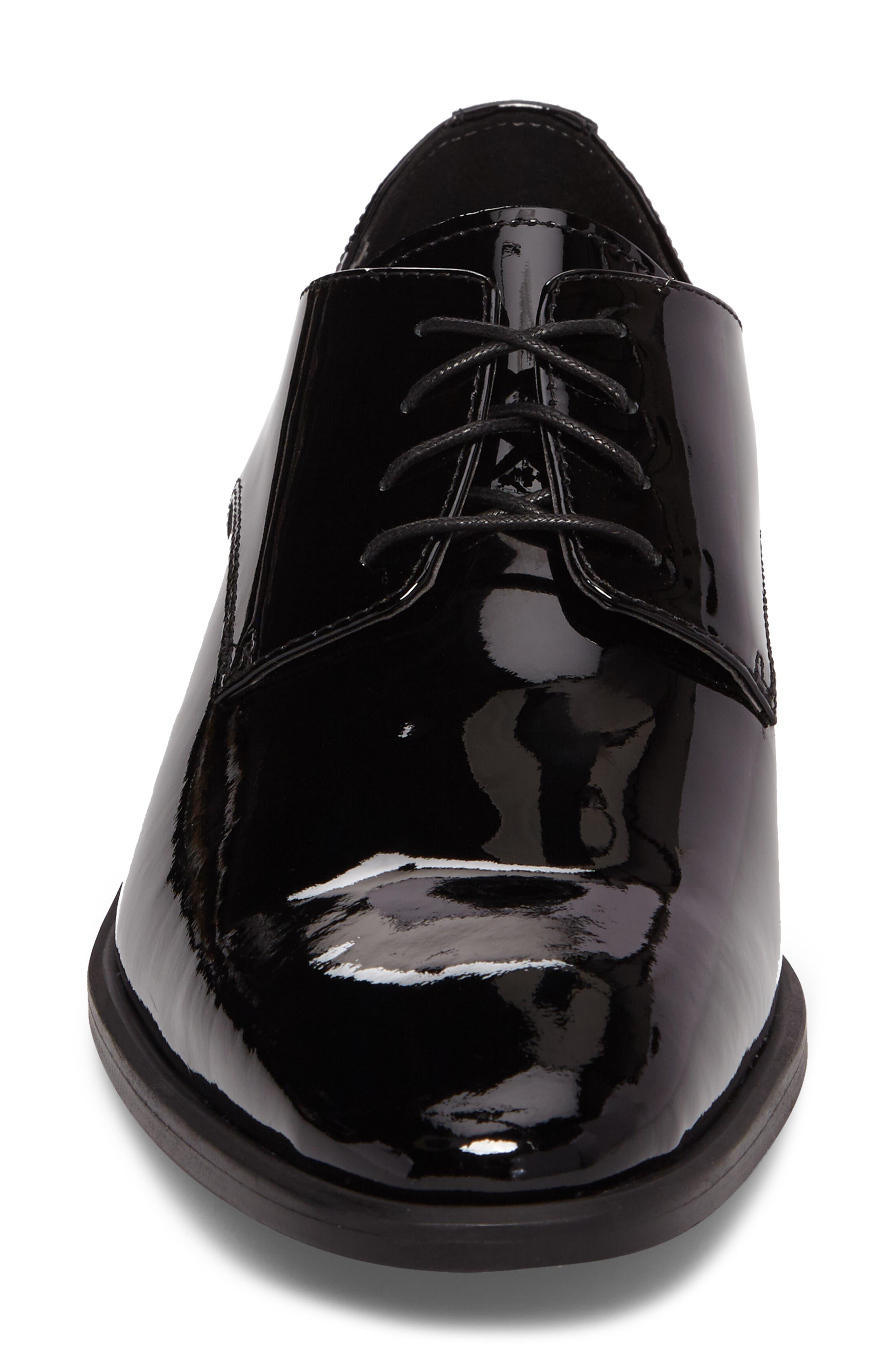 Dallas Plain Toe Derby,                             Alternate thumbnail 4, color,                             Black Patent Leather