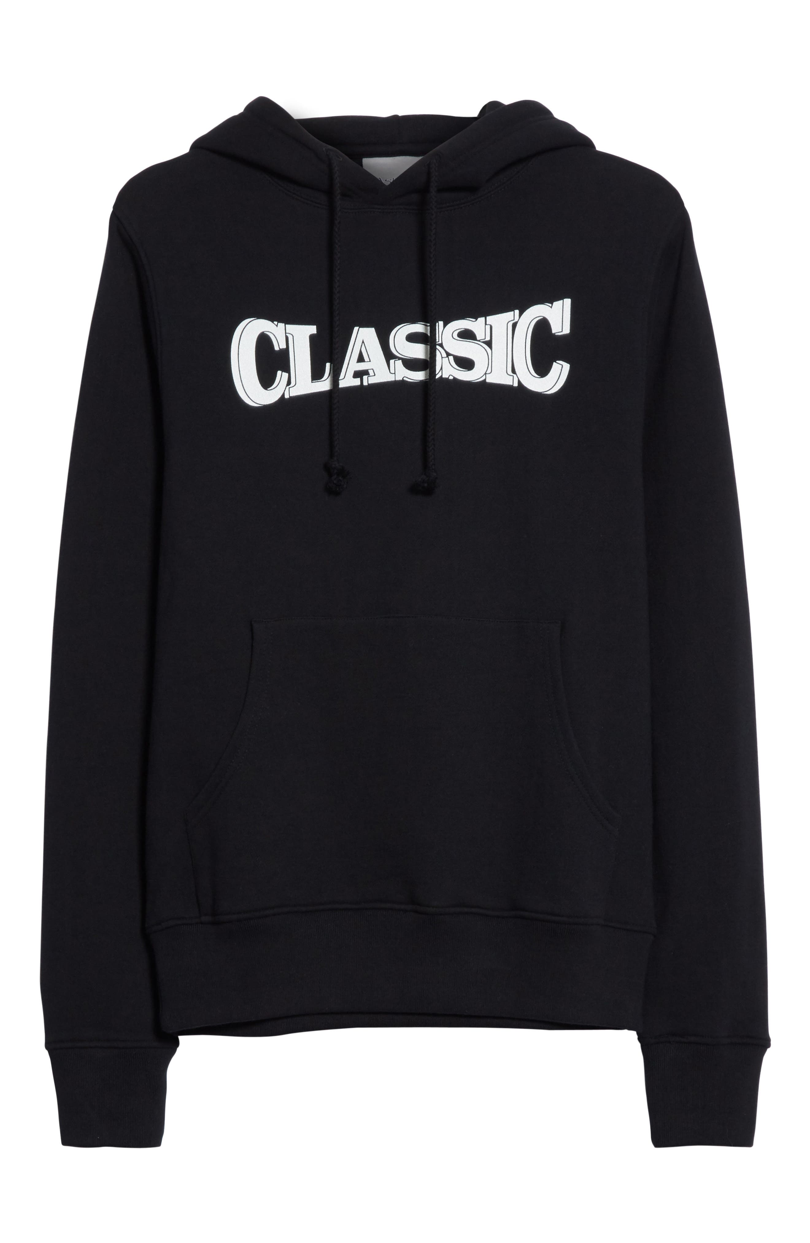 Classic Pullover Hoodie,                             Alternate thumbnail 6, color,                             Black