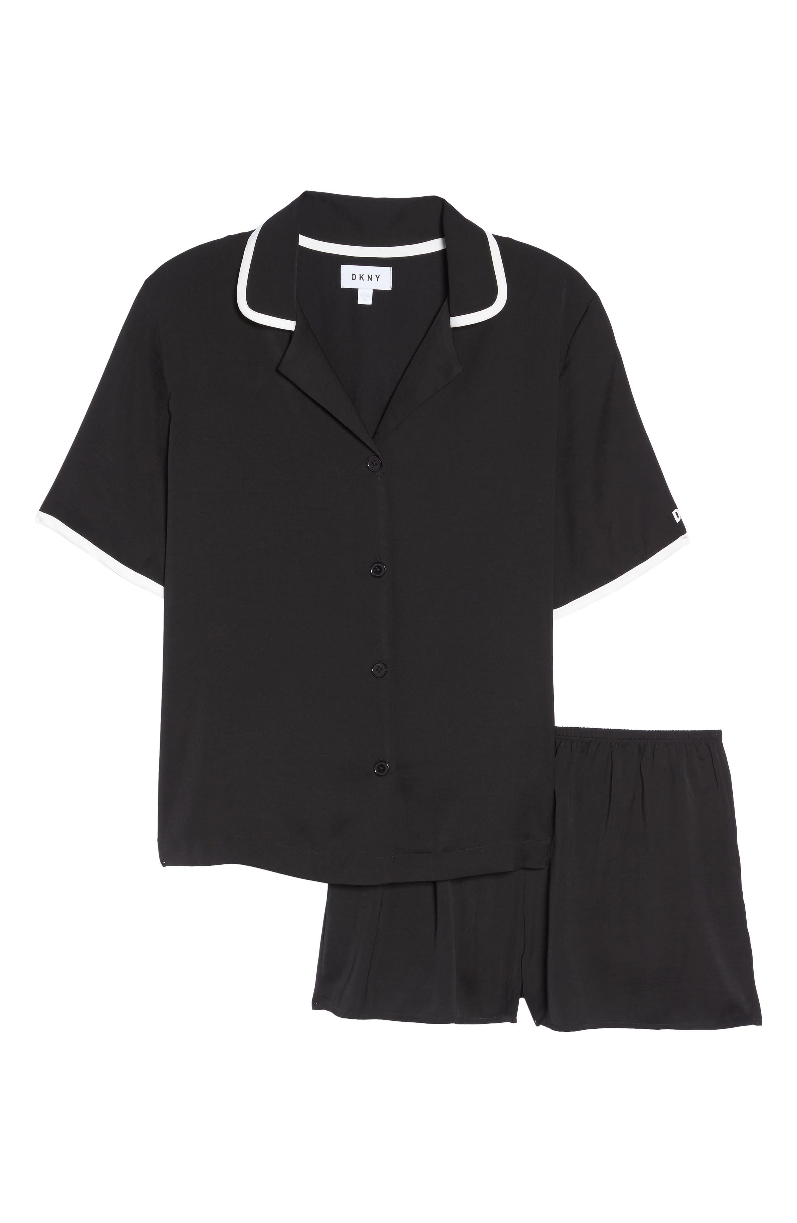 Alternate Image 6  - DKNY Washed Satin Short Pajamas & Eye Mask