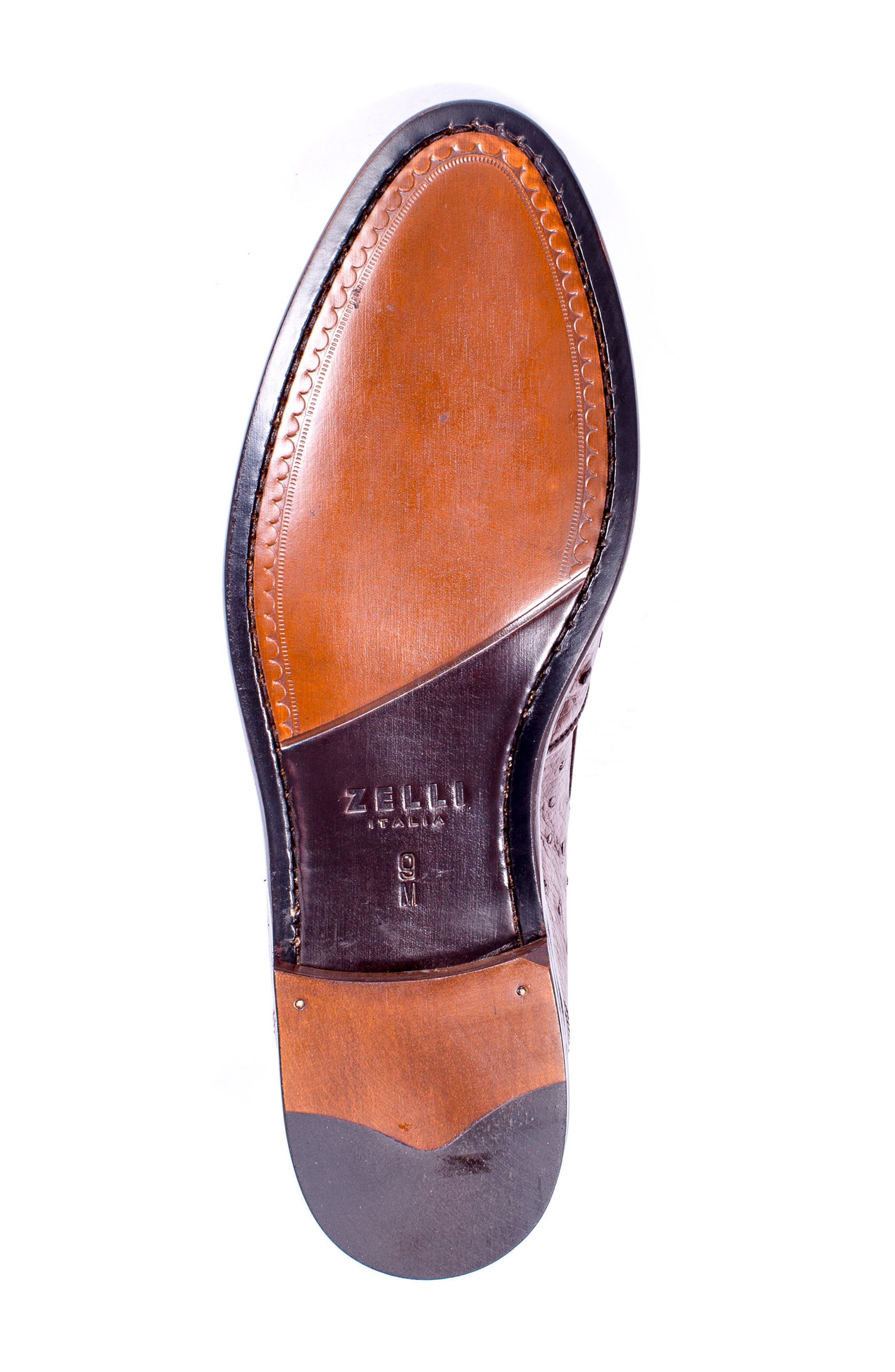 Alternate Image 6  - Zelli Franco Tassel Exotic Leather Loafer (Men)