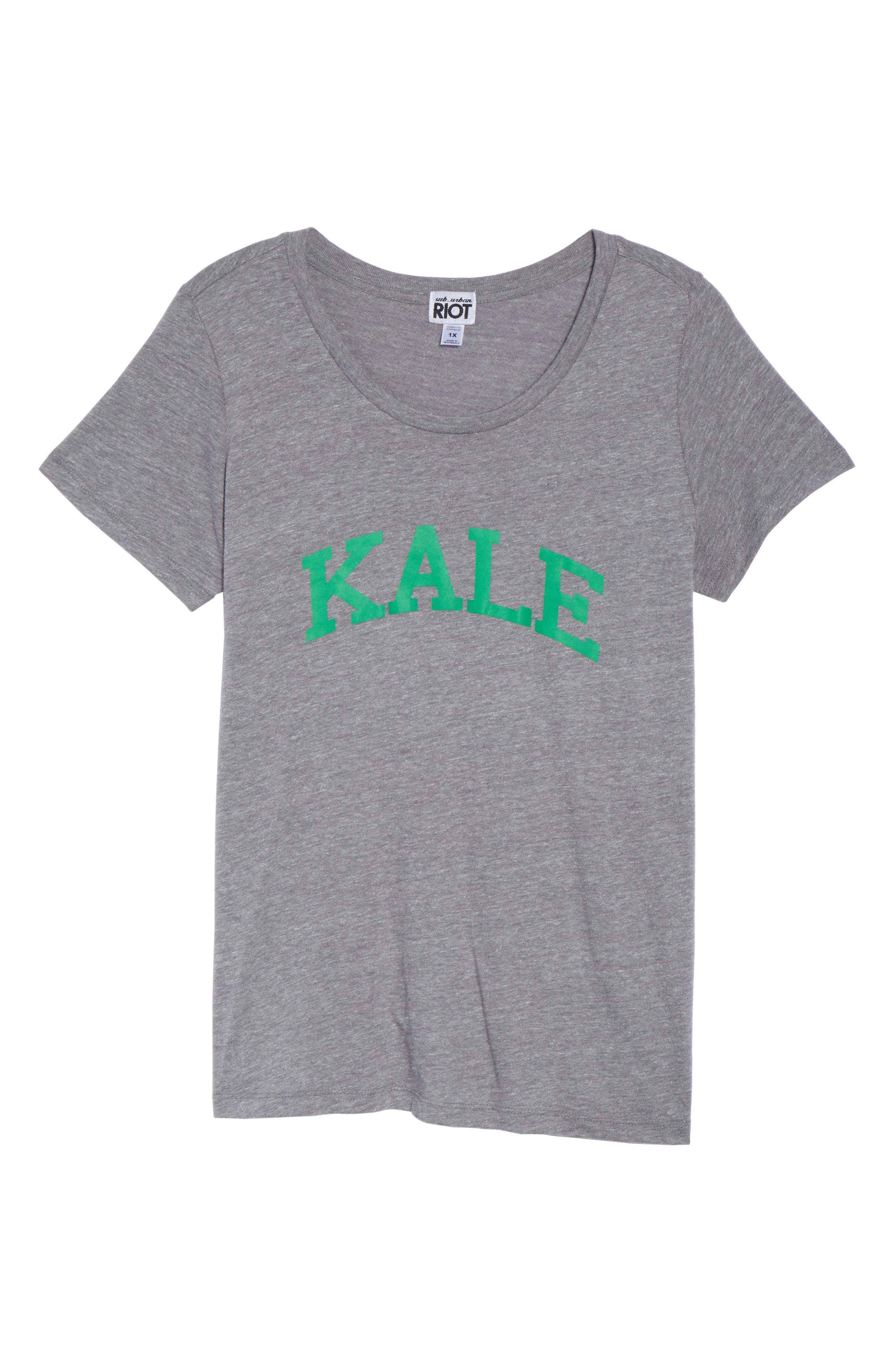 Kale Graphic Tee,                             Alternate thumbnail 6, color,                             Heather Grey