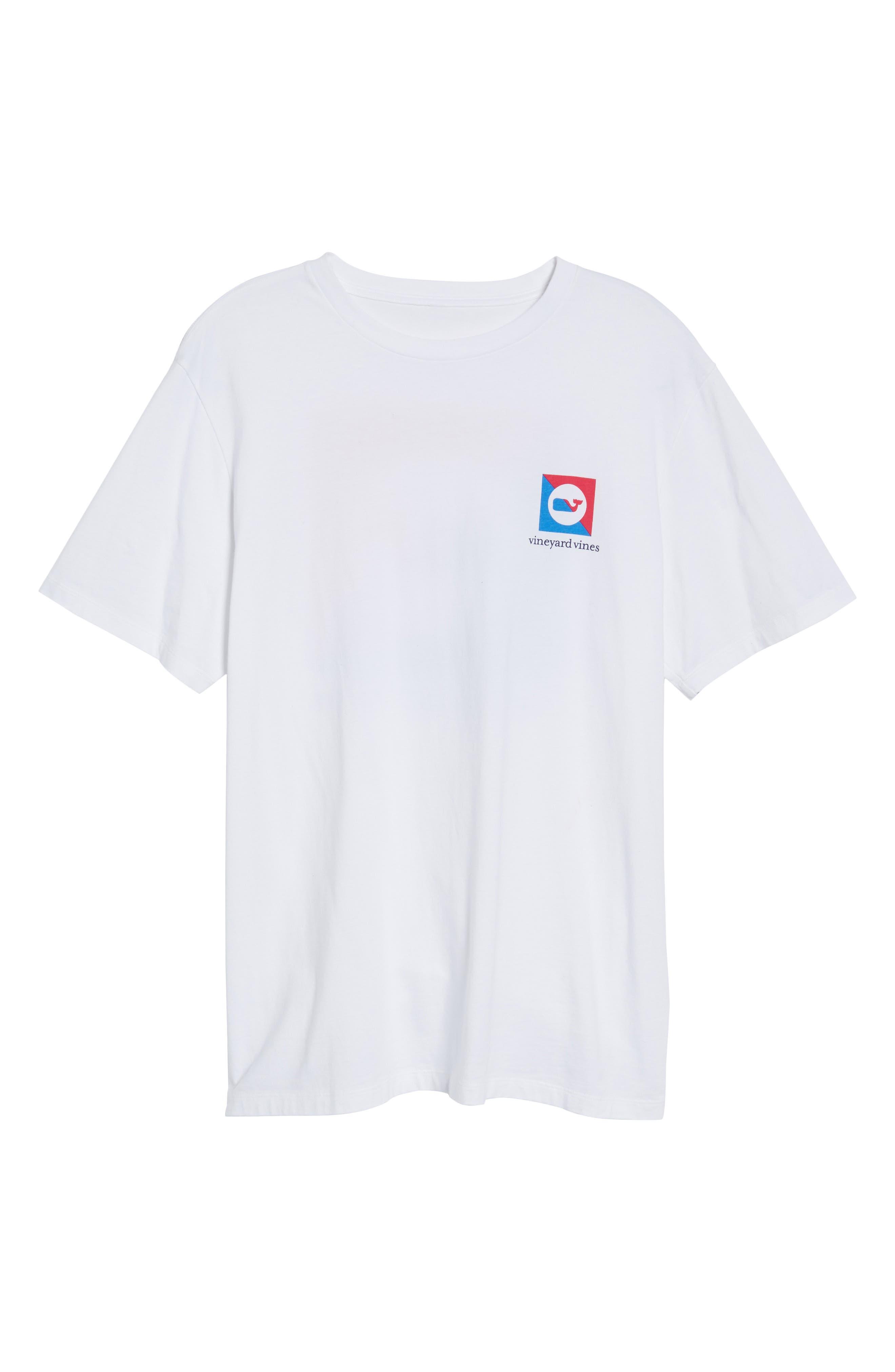 Split Burgee Logo T-Shirt,                             Alternate thumbnail 6, color,                             White Cap