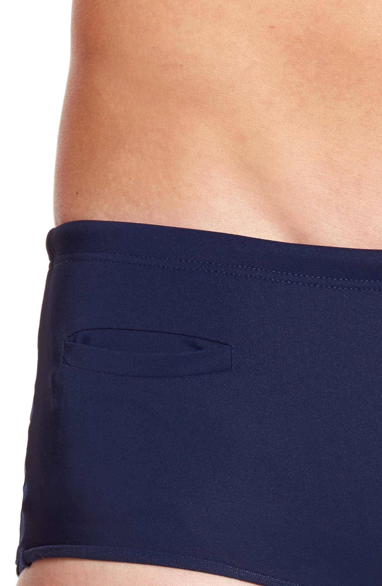 Tuxedo Swim Briefs,                             Alternate thumbnail 4, color,                             Navy