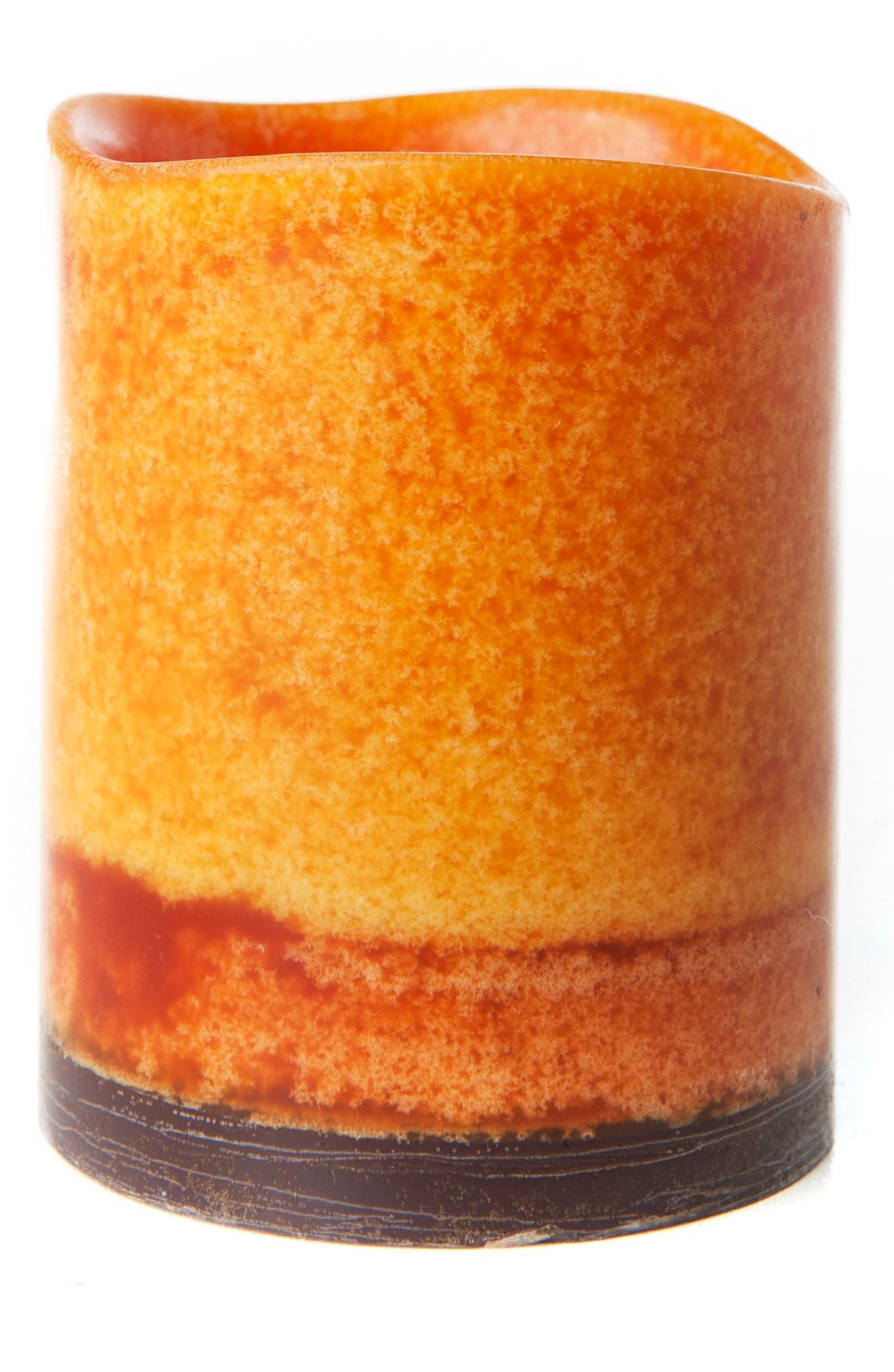 Amazing Flameless Candle Pumpkin Spice Mottled Flameless Candle