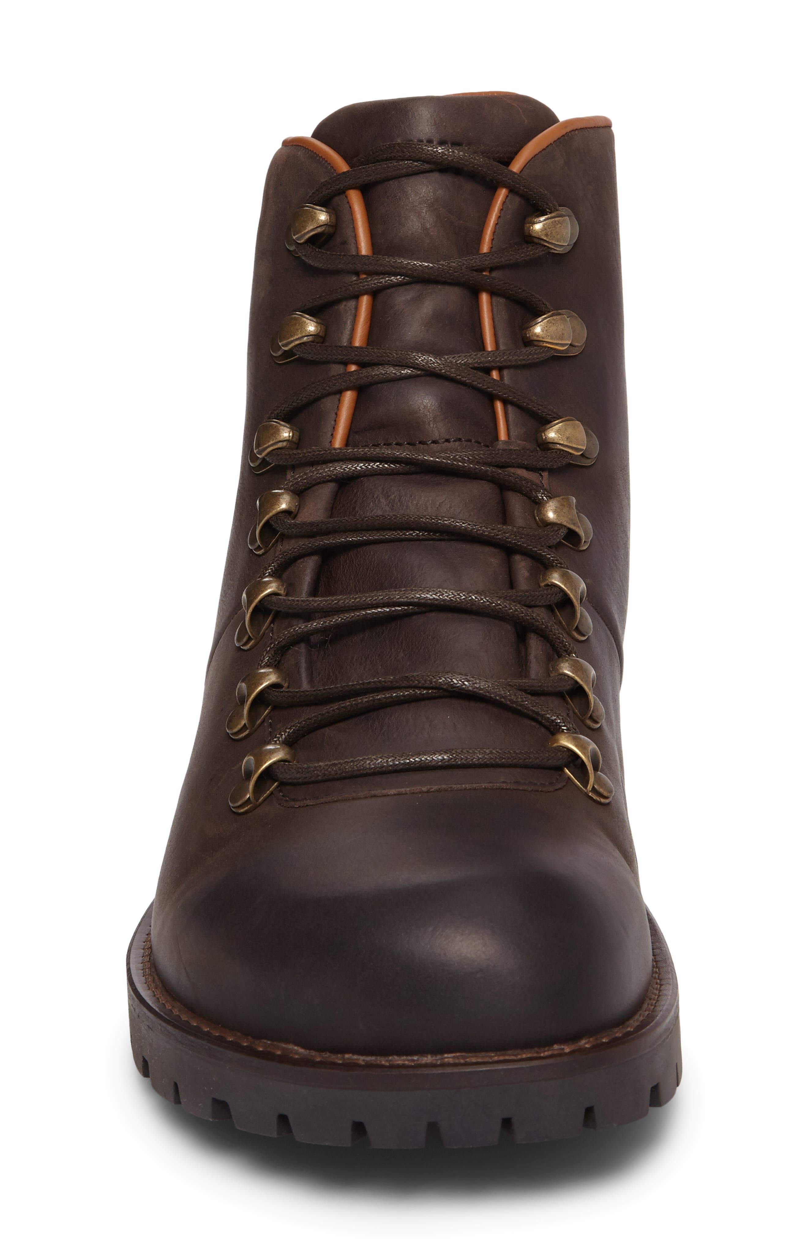Hancock Plain Toe Boot,                             Alternate thumbnail 4, color,                             Dark Brown