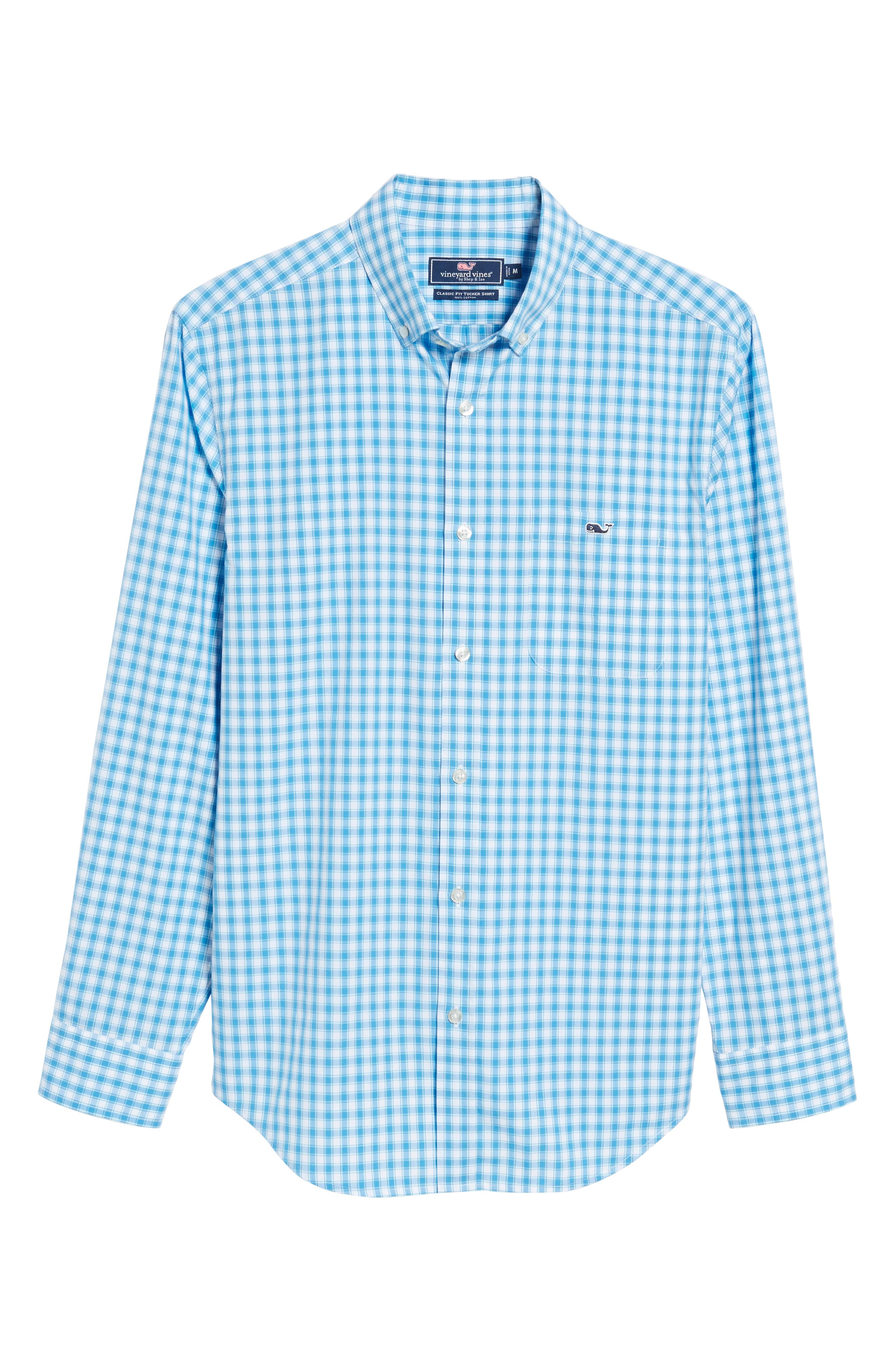Alternate Image 6  - vineyard vines Tucker Classic Fit Check Sport Shirt