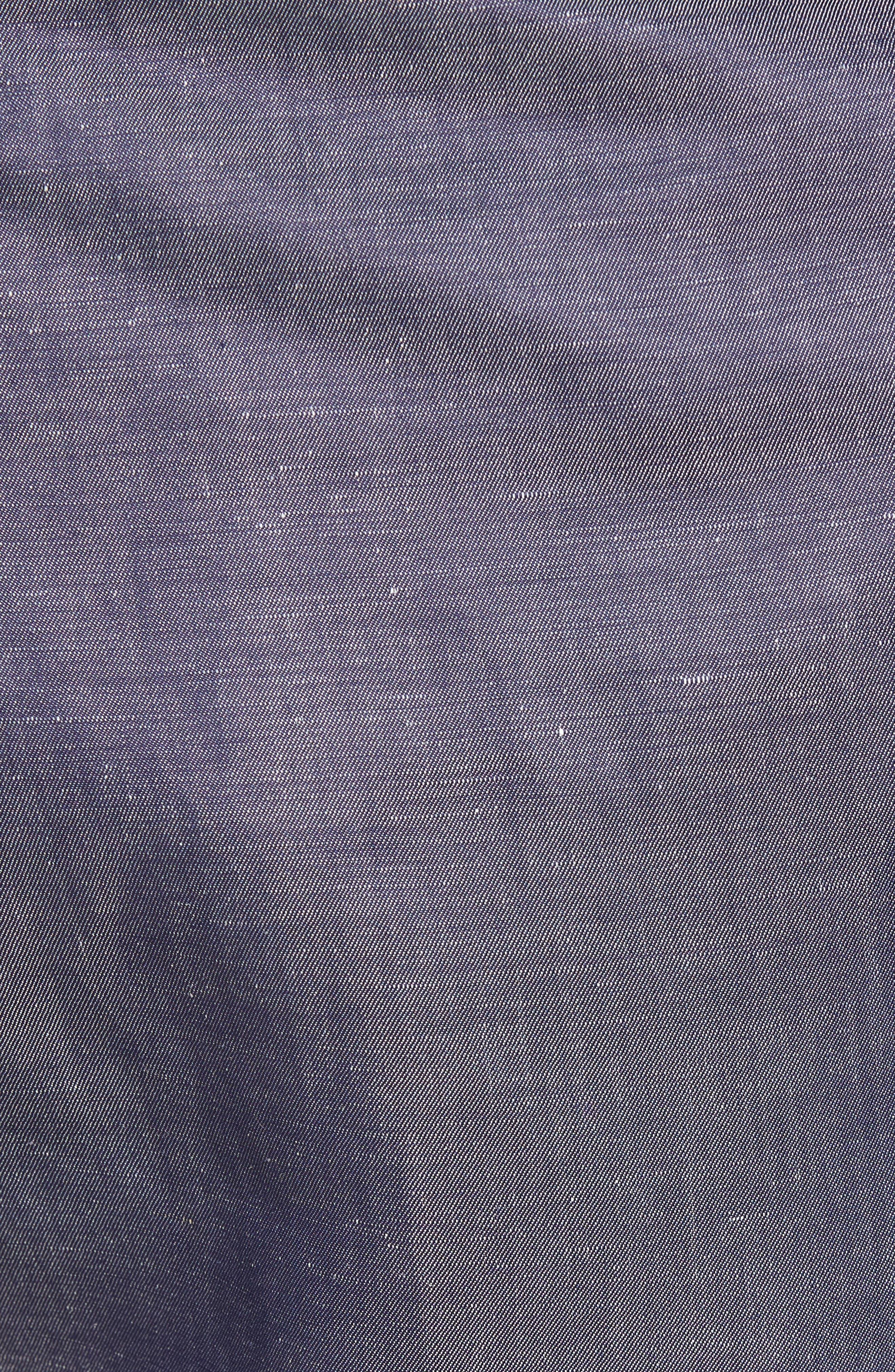 Linen Blend Bermuda Shorts,                             Alternate thumbnail 5, color,                             Blue Jean