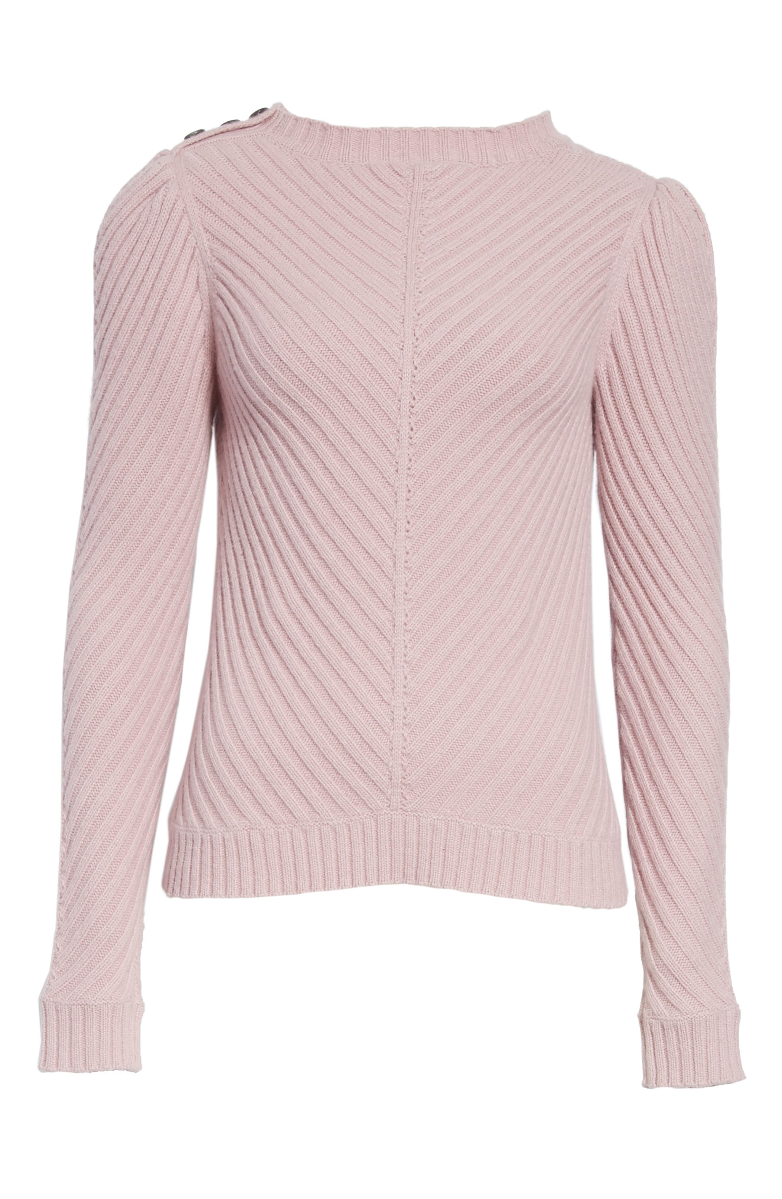Ribbed Knit Pullover,                             Alternate thumbnail 6, color,                             Mauve