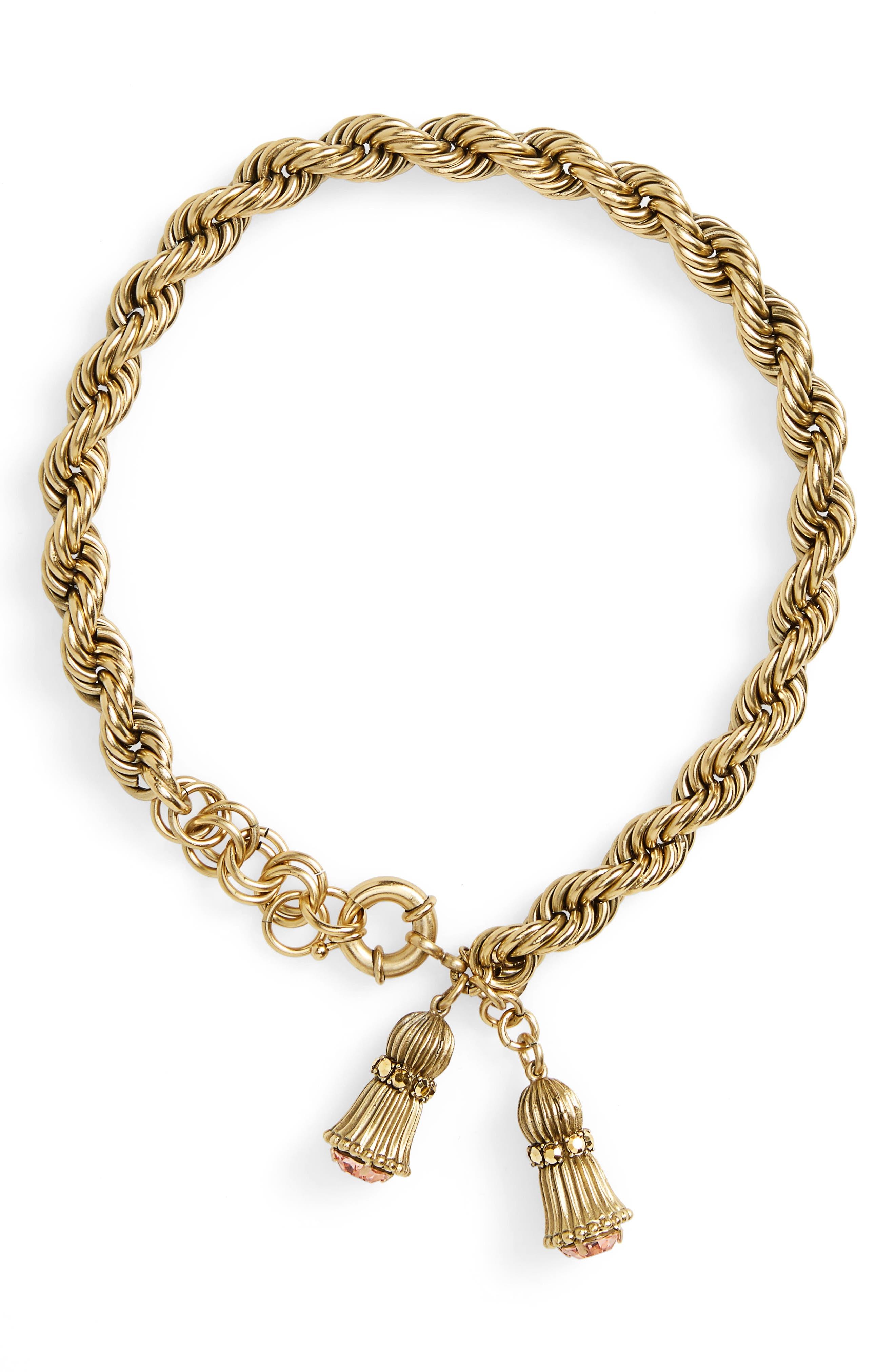 Fallon Crystal Choker Necklace,                             Main thumbnail 1, color,                             Gold