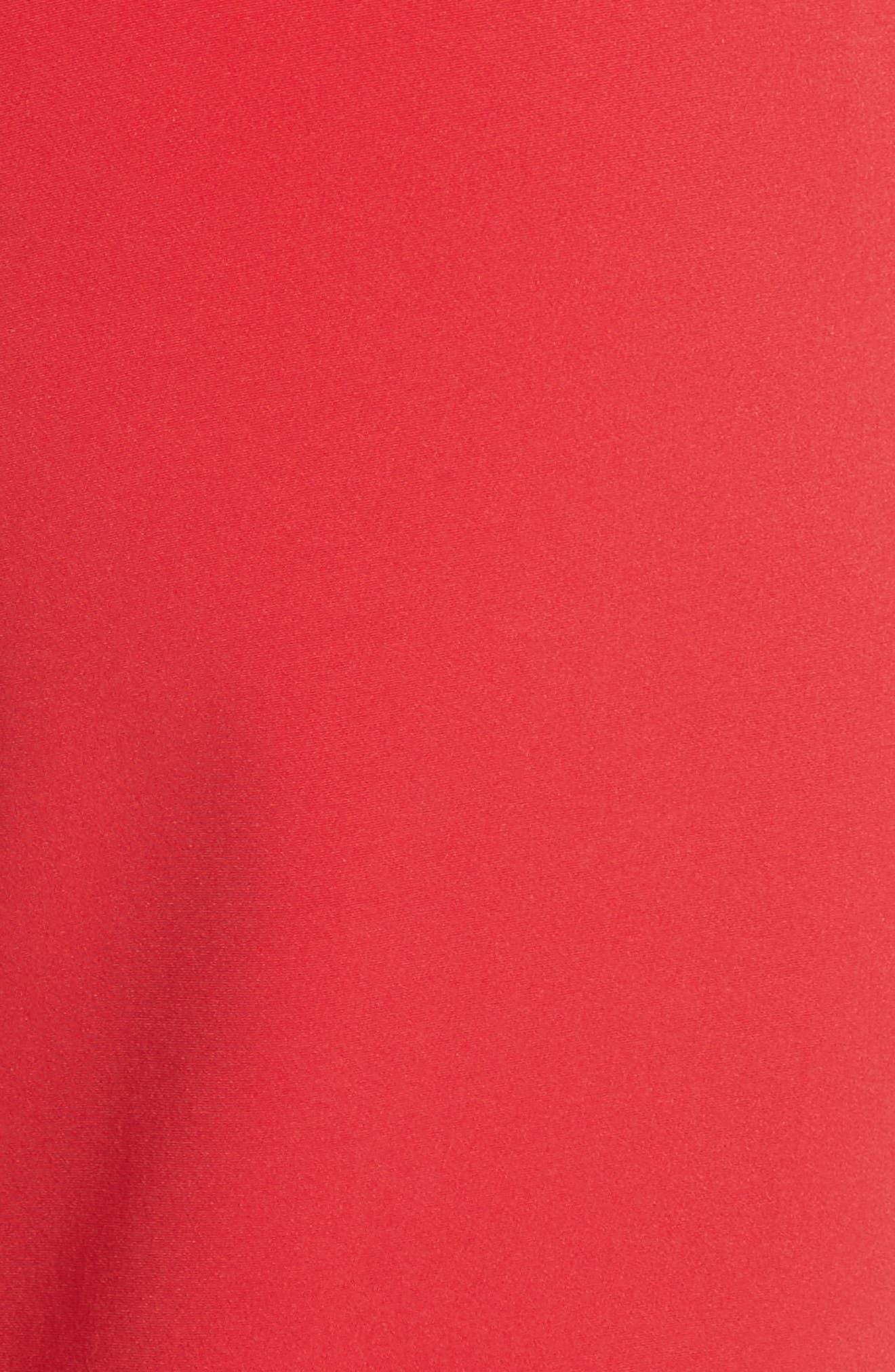 Crop Bi-Stretch Pants,                             Alternate thumbnail 5, color,                             Red