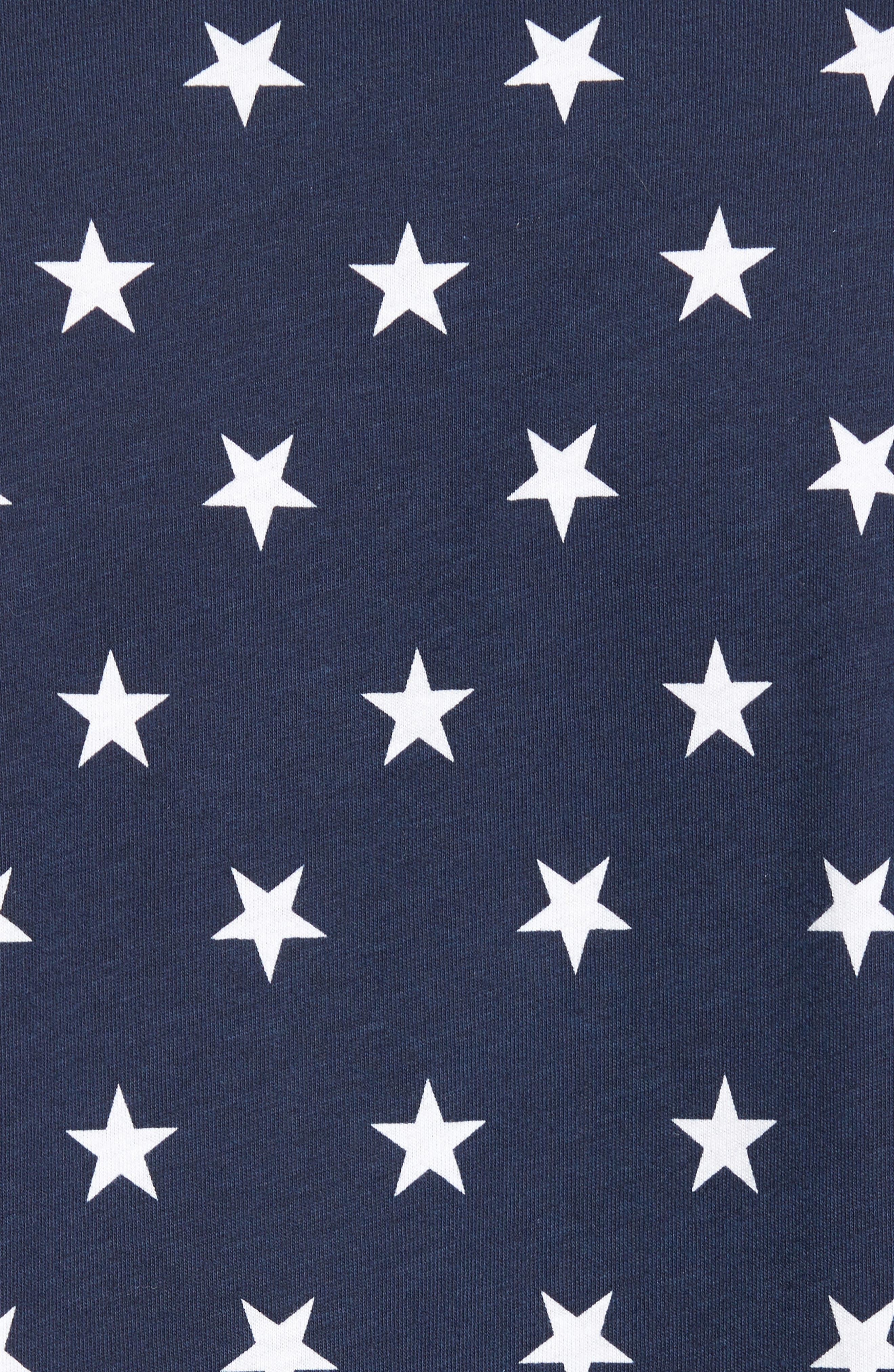 International Collection Star Print T-Shirt,                             Alternate thumbnail 5, color,                             Cosmic Blue Star Print