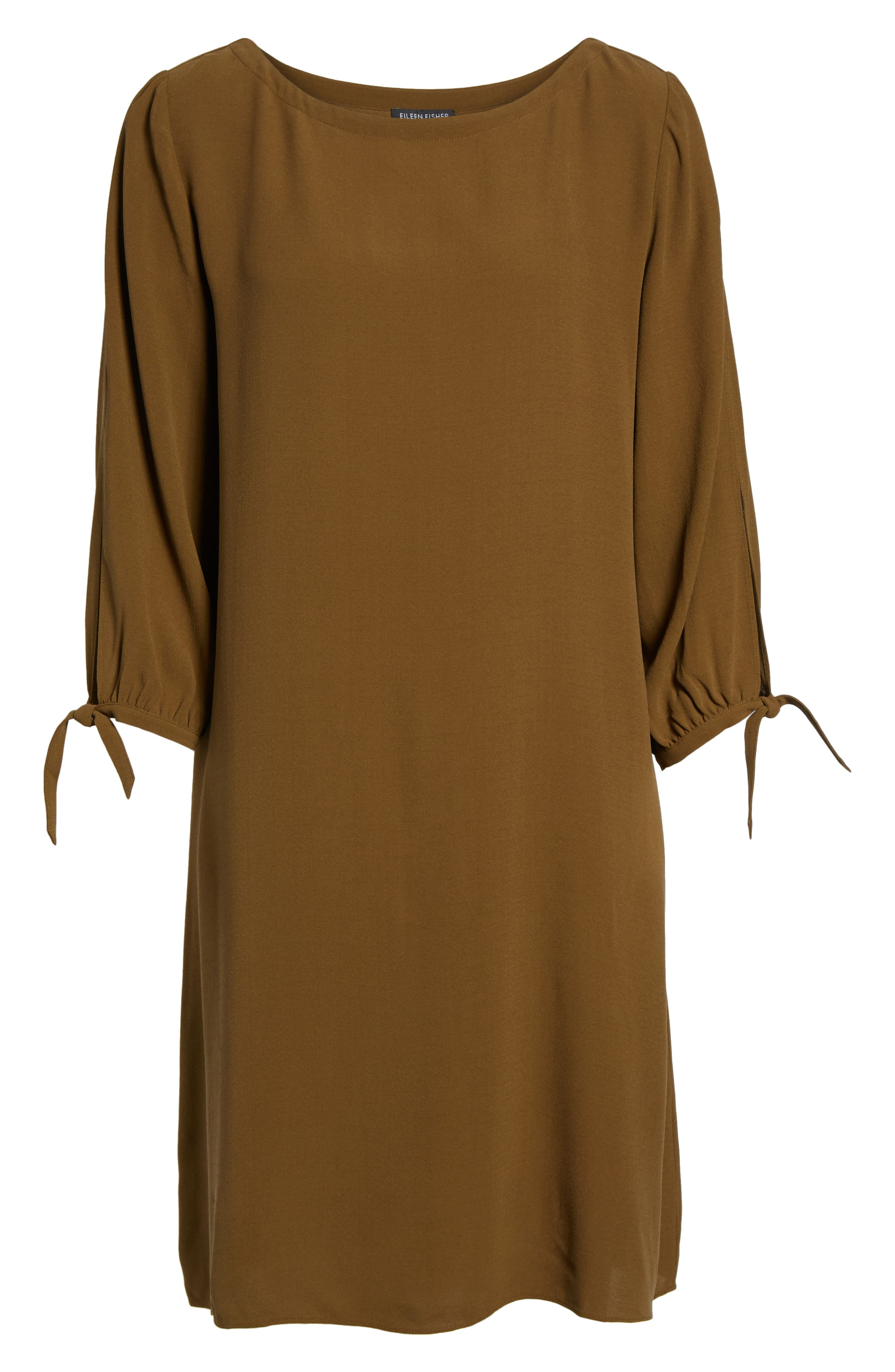 Alternate Image 6  - Eileen Fisher Silk Shift Dress (Regular & Petite)