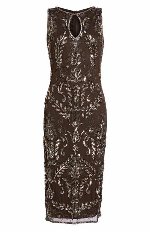 Women\'s Brown Midi Cocktail, Party Dresses & Christmas Dresses ...