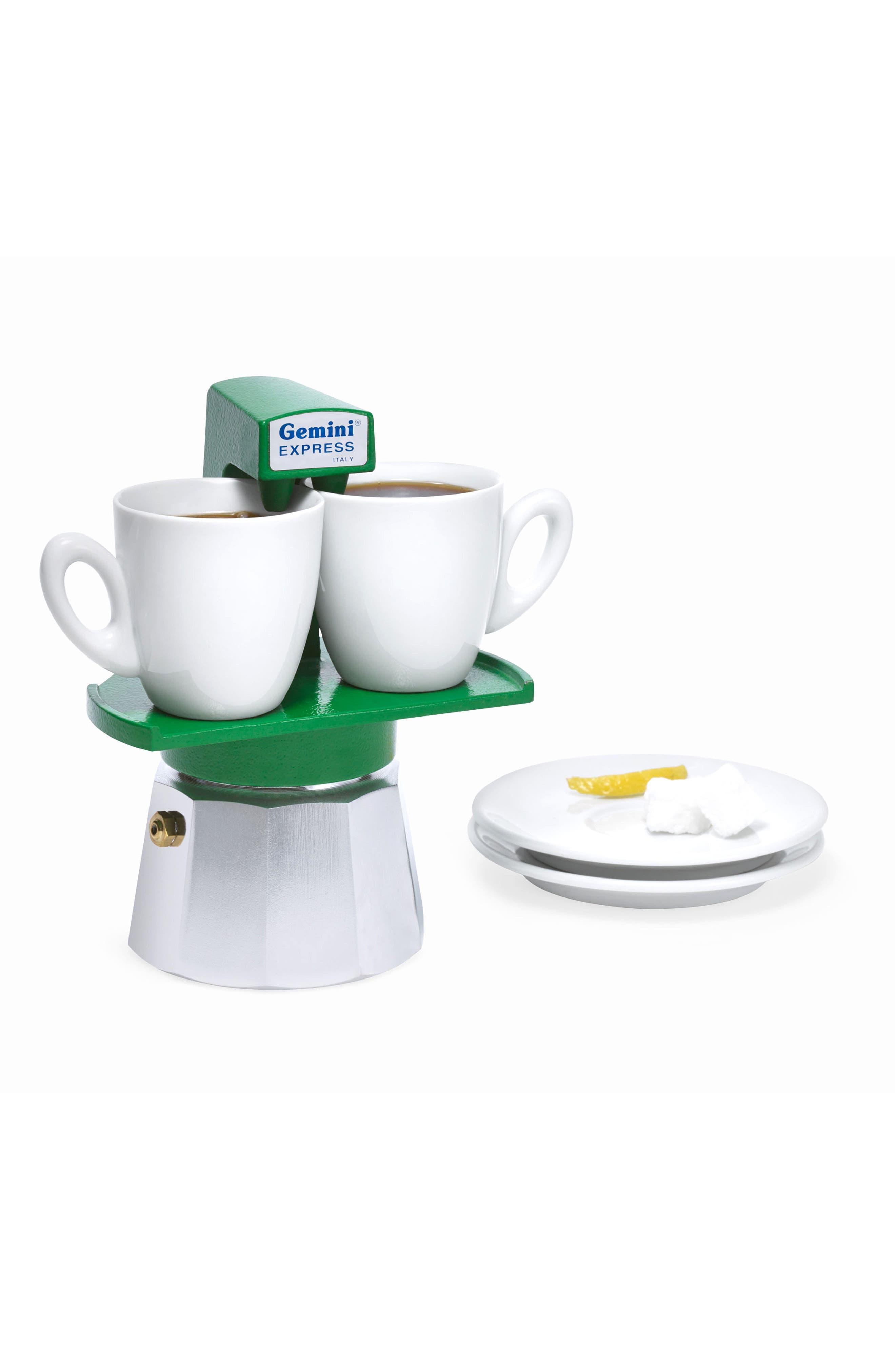 Gemini Espresso Maker,                             Main thumbnail 1, color,                             Green