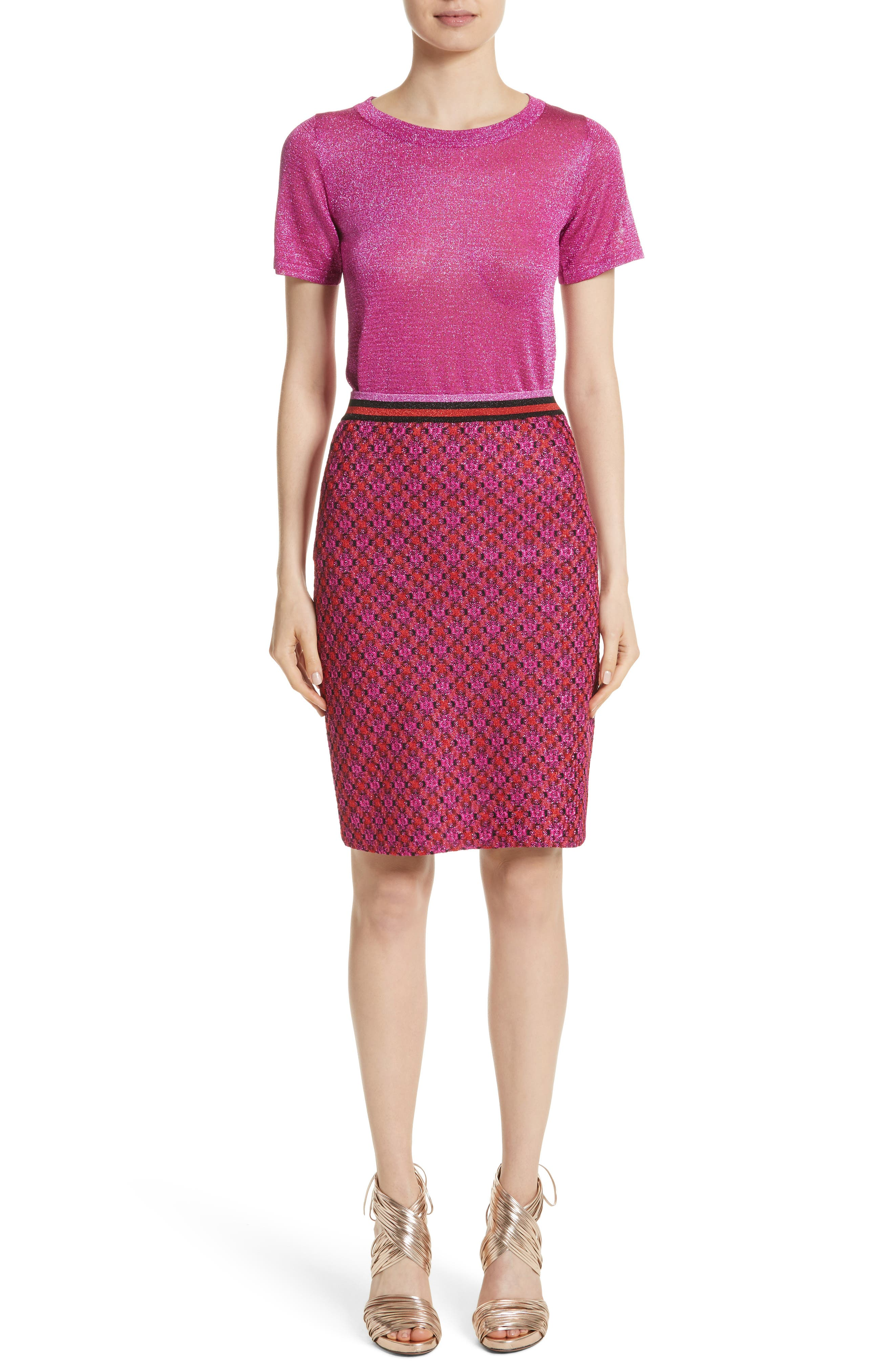 Alternate Image 7  - Missoni Metallic Crisscross Knit Pencil Skirt