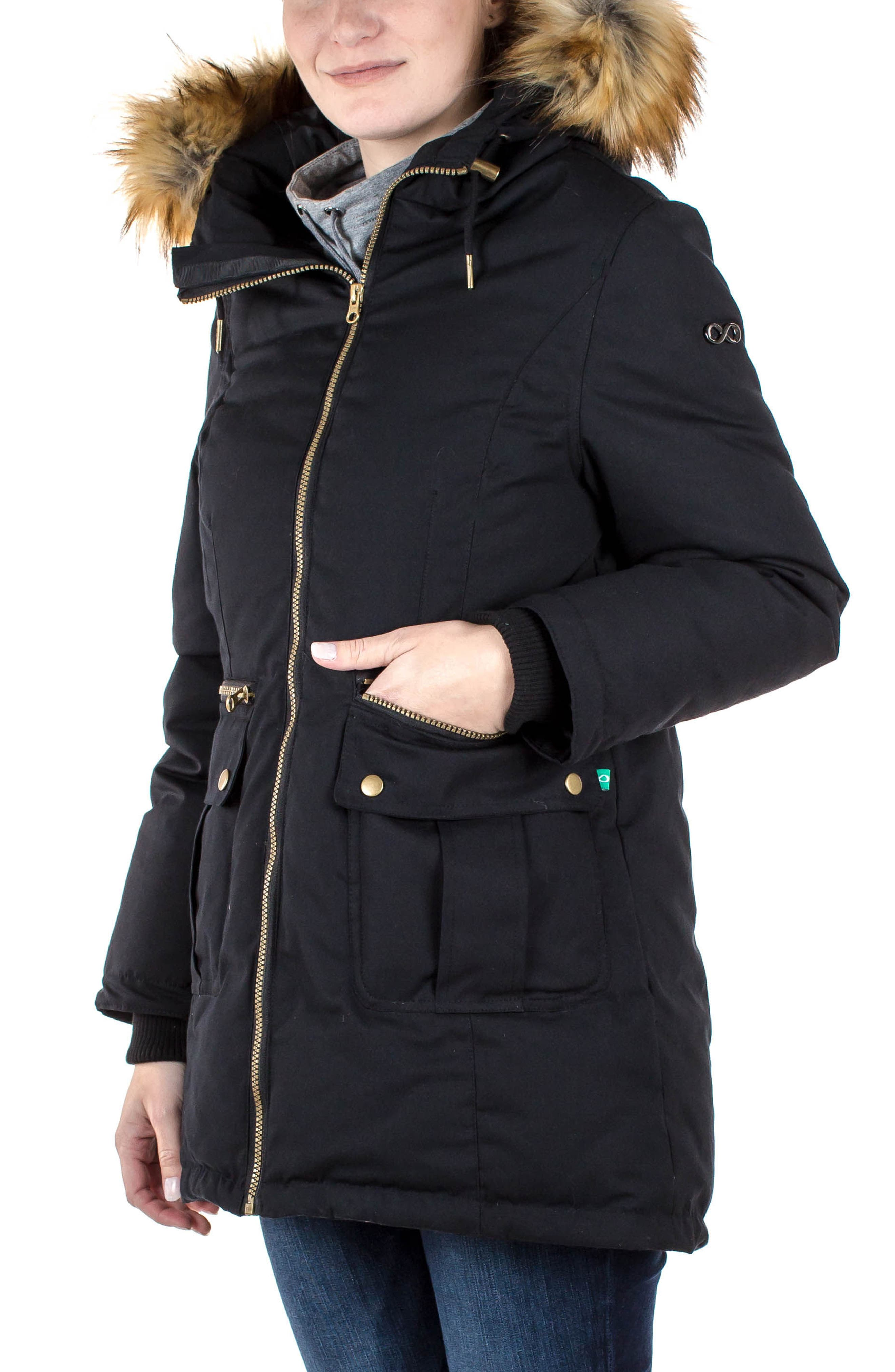 Alternate Image 4  - Modern Eternity Convertible Down Maternity Jacket